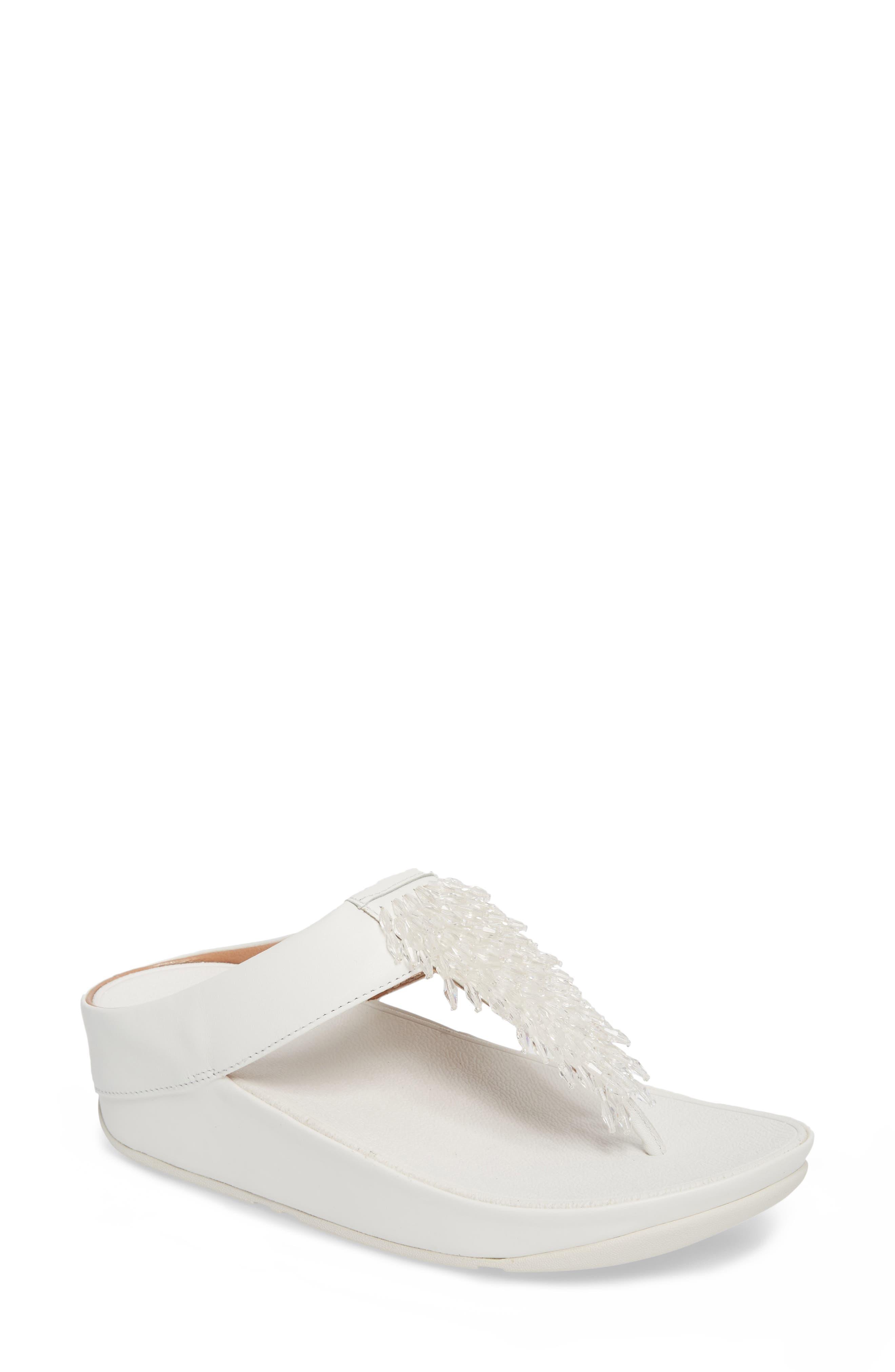 Rumba Sandal,                             Main thumbnail 1, color,                             Urban White Leather