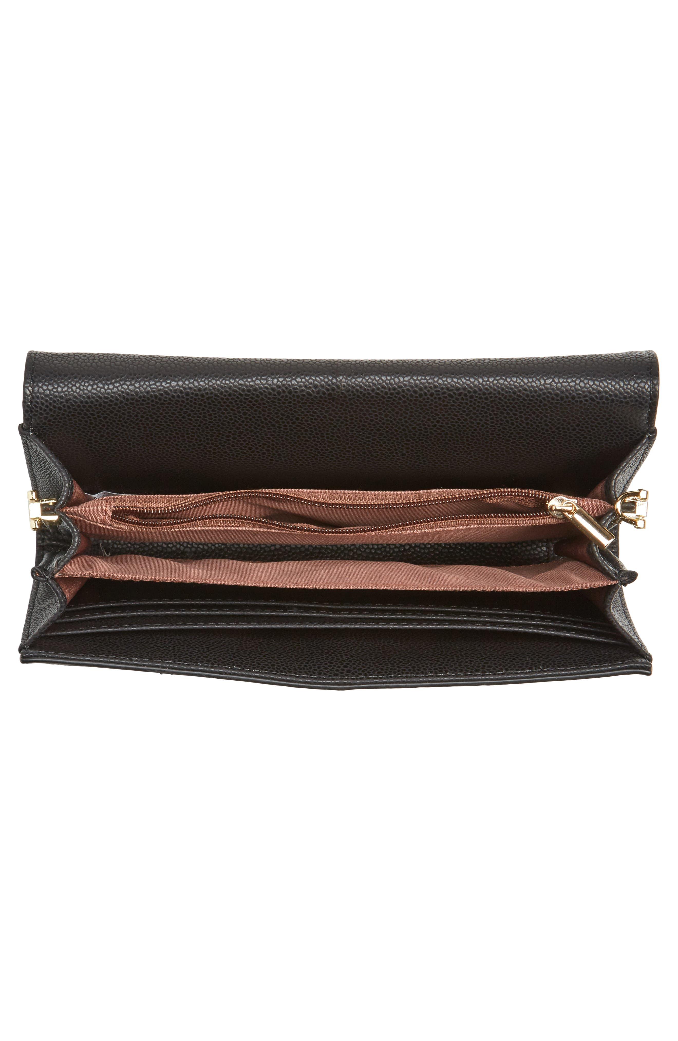 Alternate Image 4  - Sondra Roberts Faux Leather Envelope Crossbody Bag