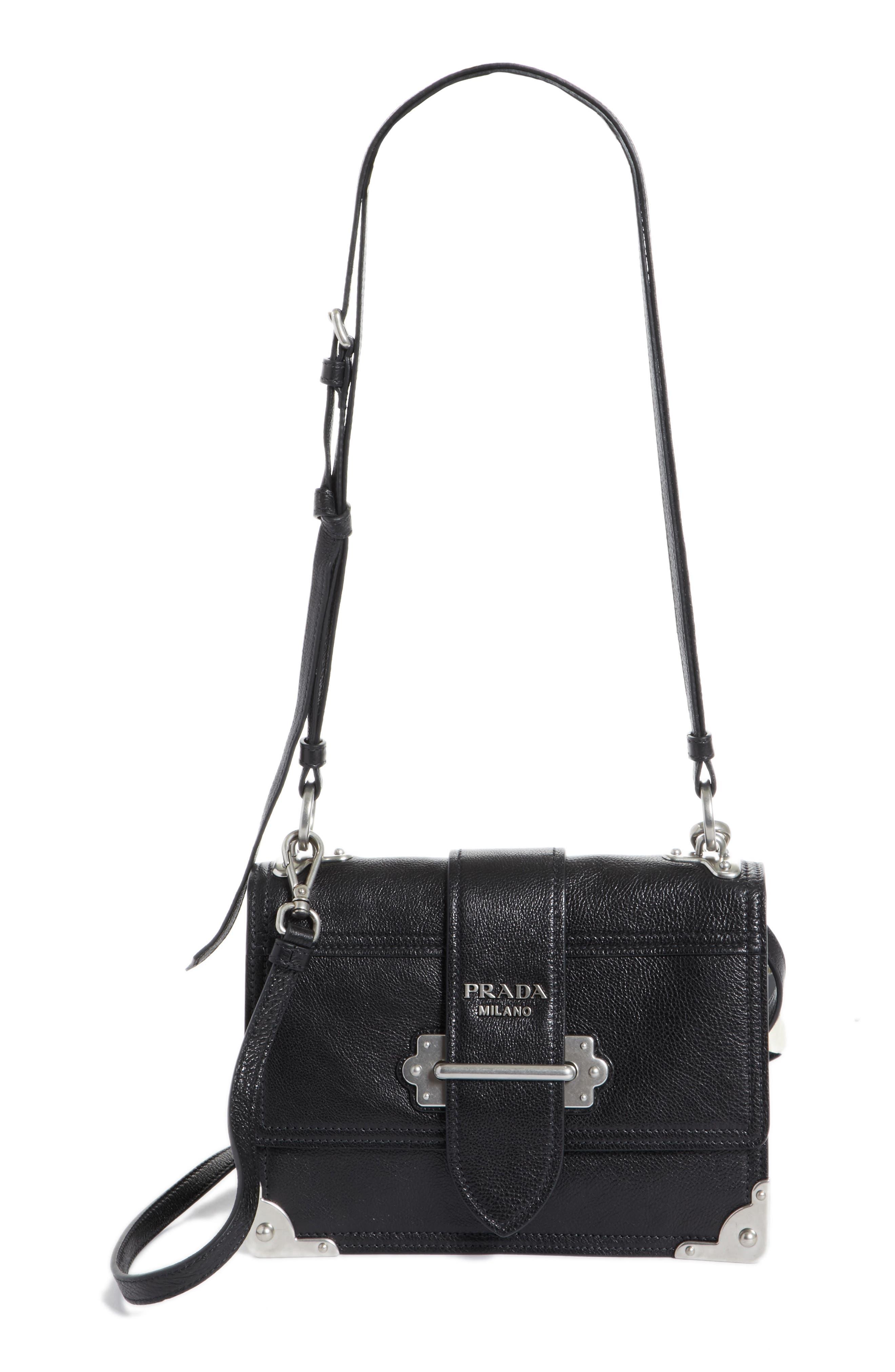 Main Image - Prada Cahier Glace Calfskin Convertible Shoulder Bag