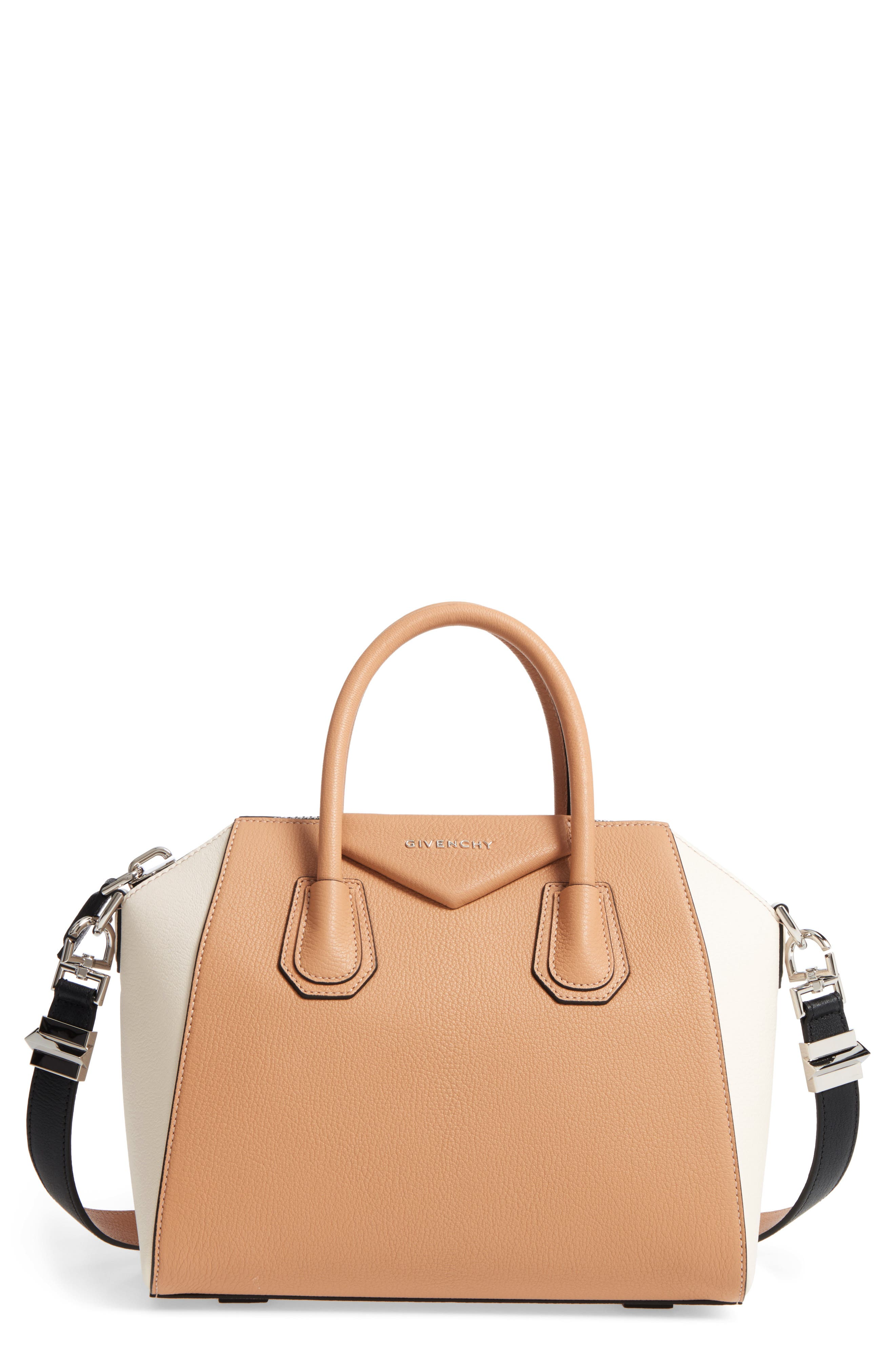 Givenchy Small Antigona Bicolor Sugar Leather Satchel