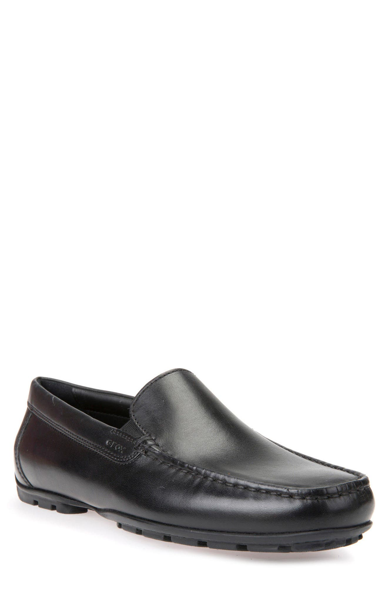 Moner 2Fit 2 Driving Moccasin,                         Main,                         color, Black Leather