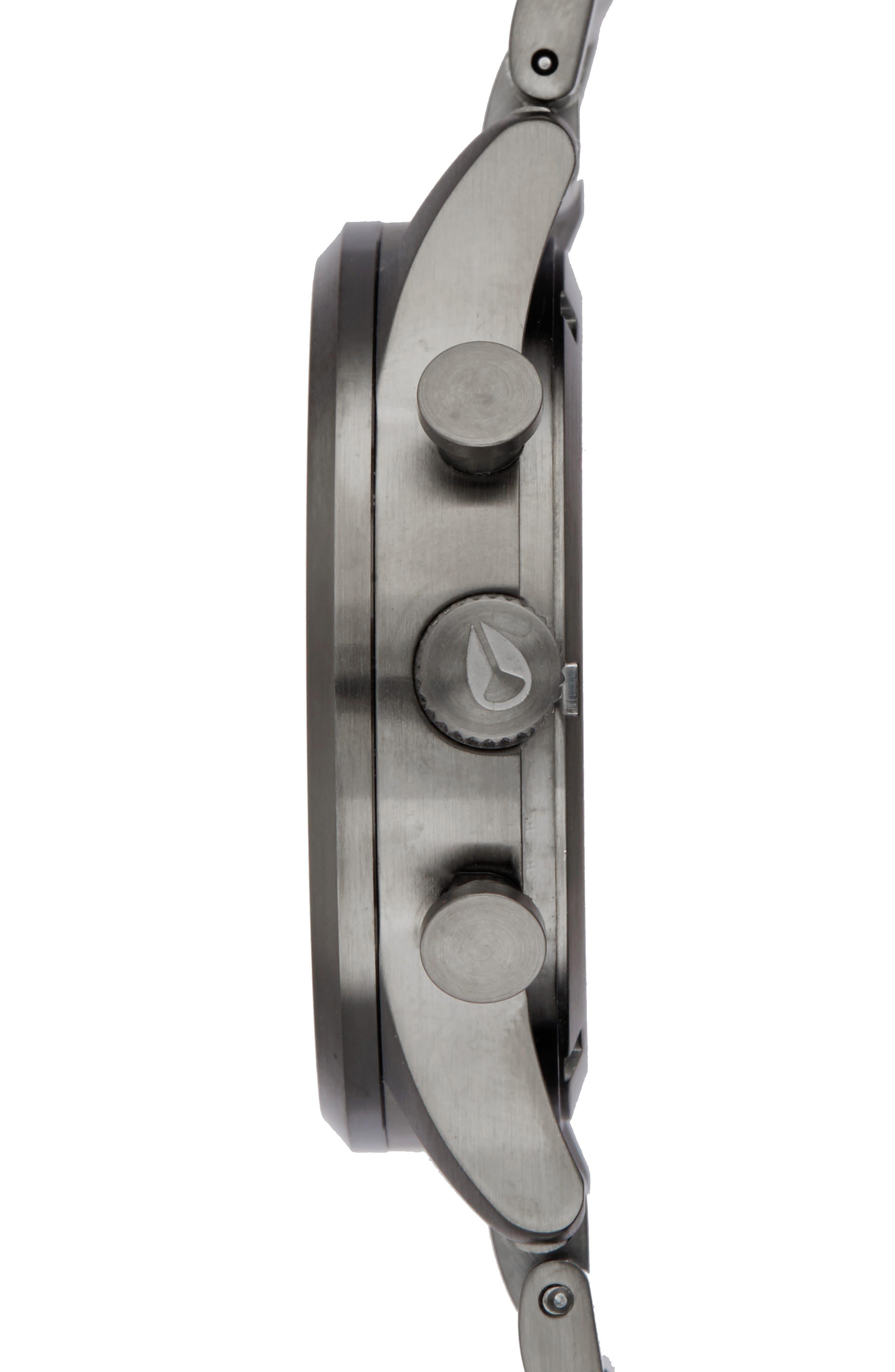 Freemont Chronograph Bracelet Watch, 42mm,                             Alternate thumbnail 3, color,                             Gunmetal