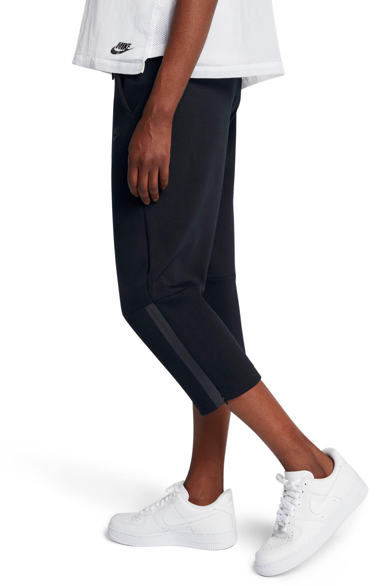 Sportswear Women's Tech Fleece Sneaker Pants,                             Alternate thumbnail 5, color,                             Black/ Black