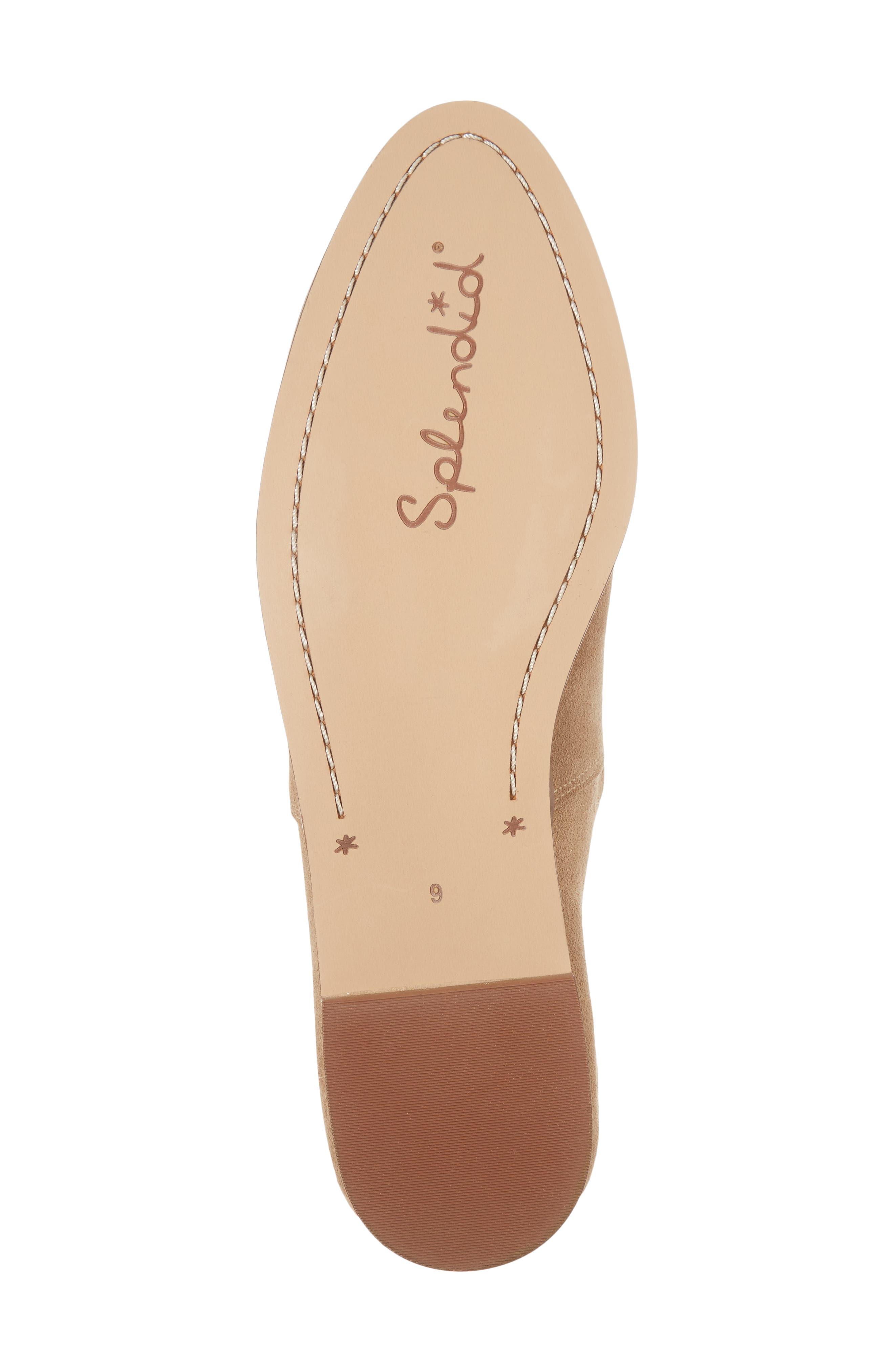 Babette Almond Toe Flat,                             Alternate thumbnail 6, color,                             Light Taupe Suede