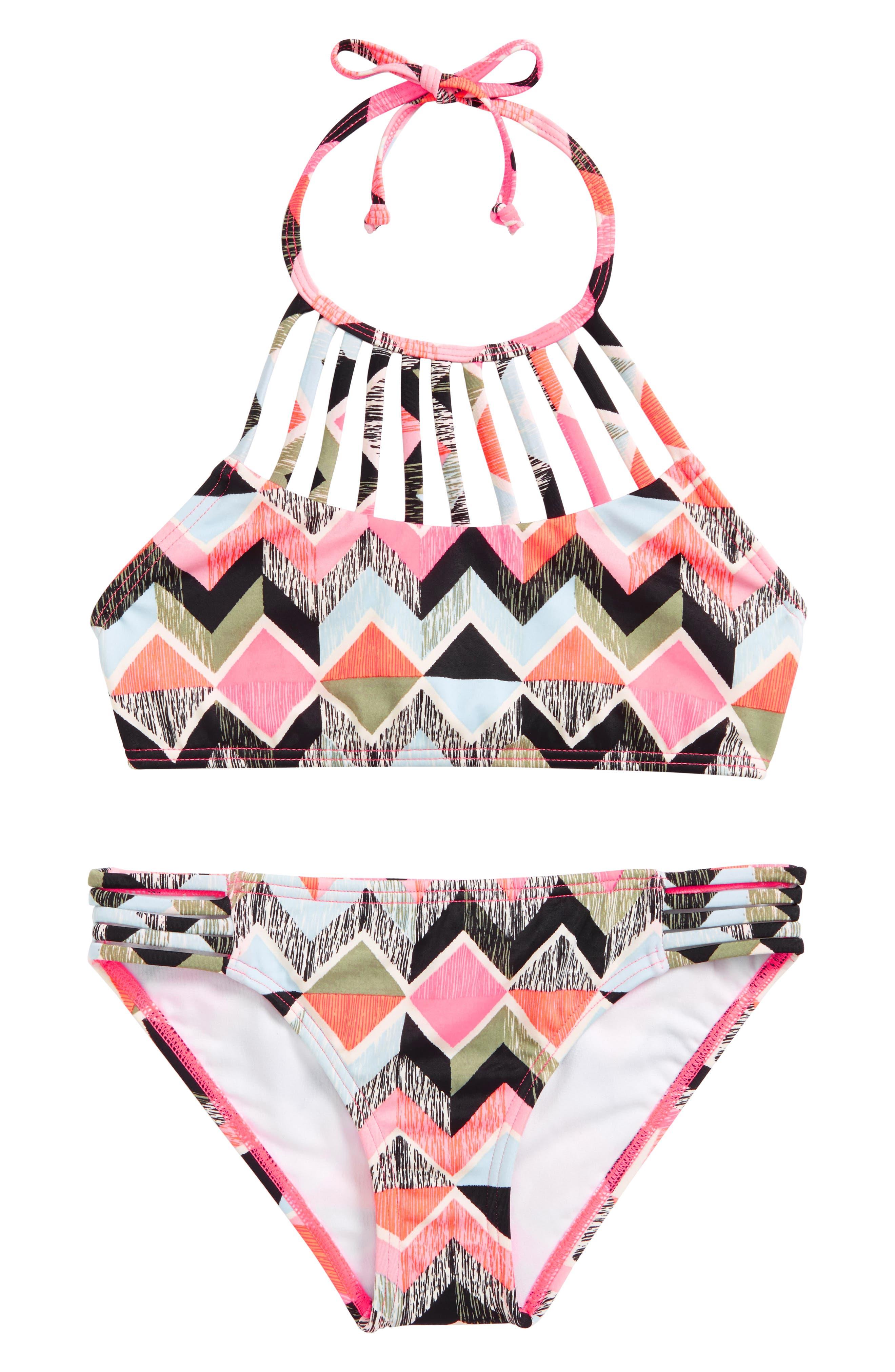 Zigginz Two-Piece Swimsuit,                         Main,                         color, Multi
