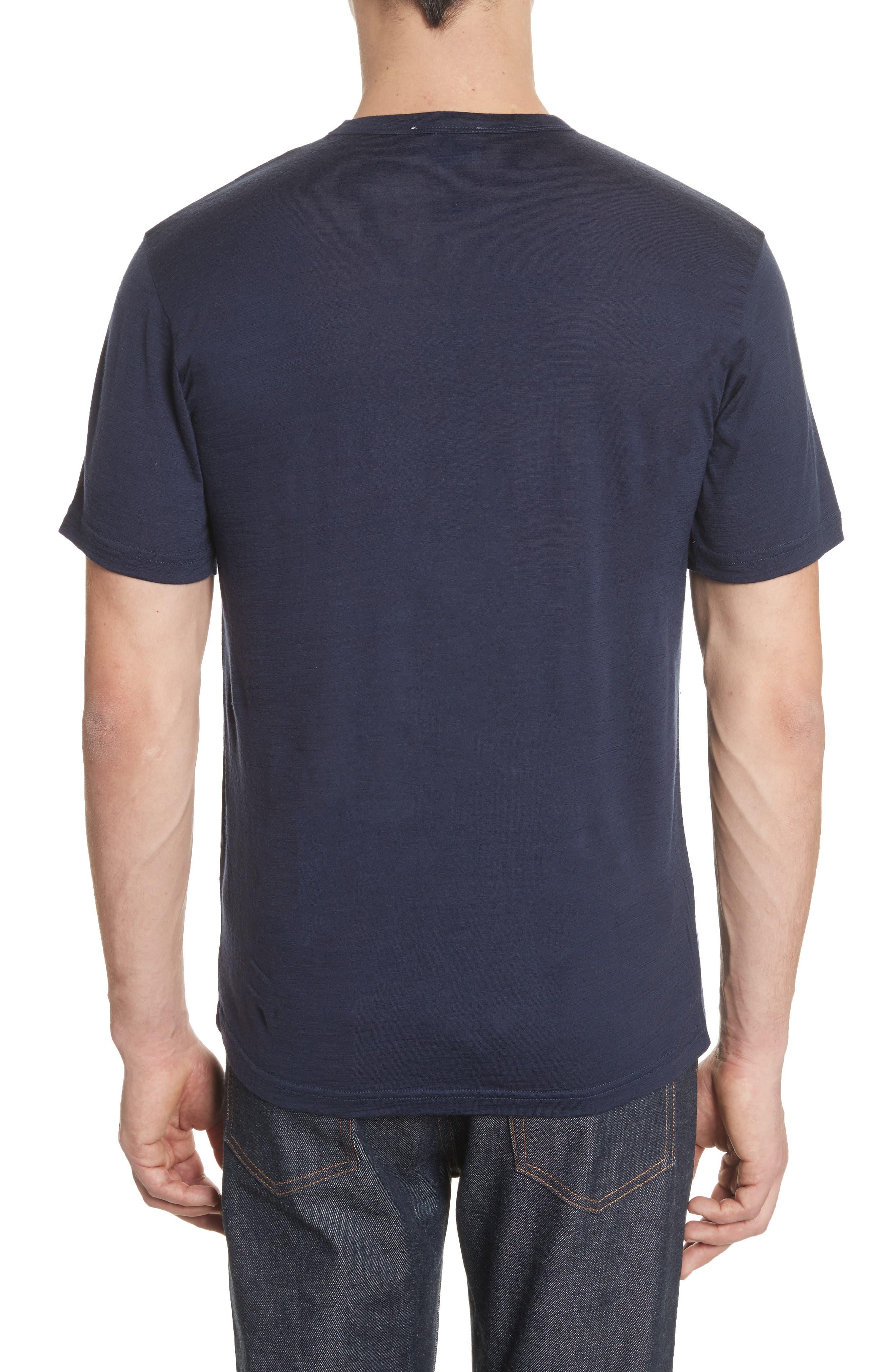 Jesper Mercerized Wool T-Shirt,                             Alternate thumbnail 2, color,                             Navy