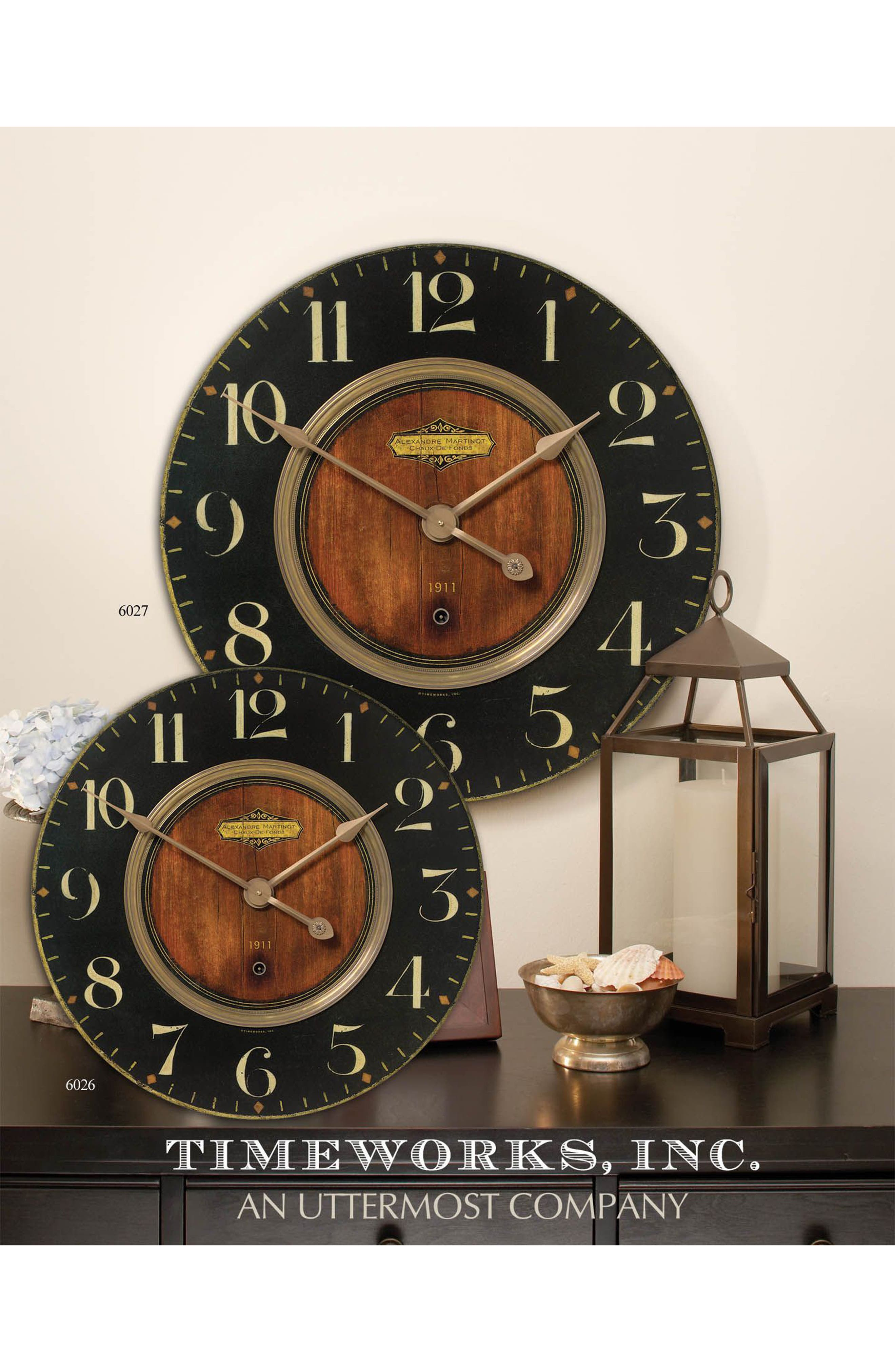 Alexandre Martinot Wall Clock,                             Alternate thumbnail 2, color,                             Metallic Rust/ Copper