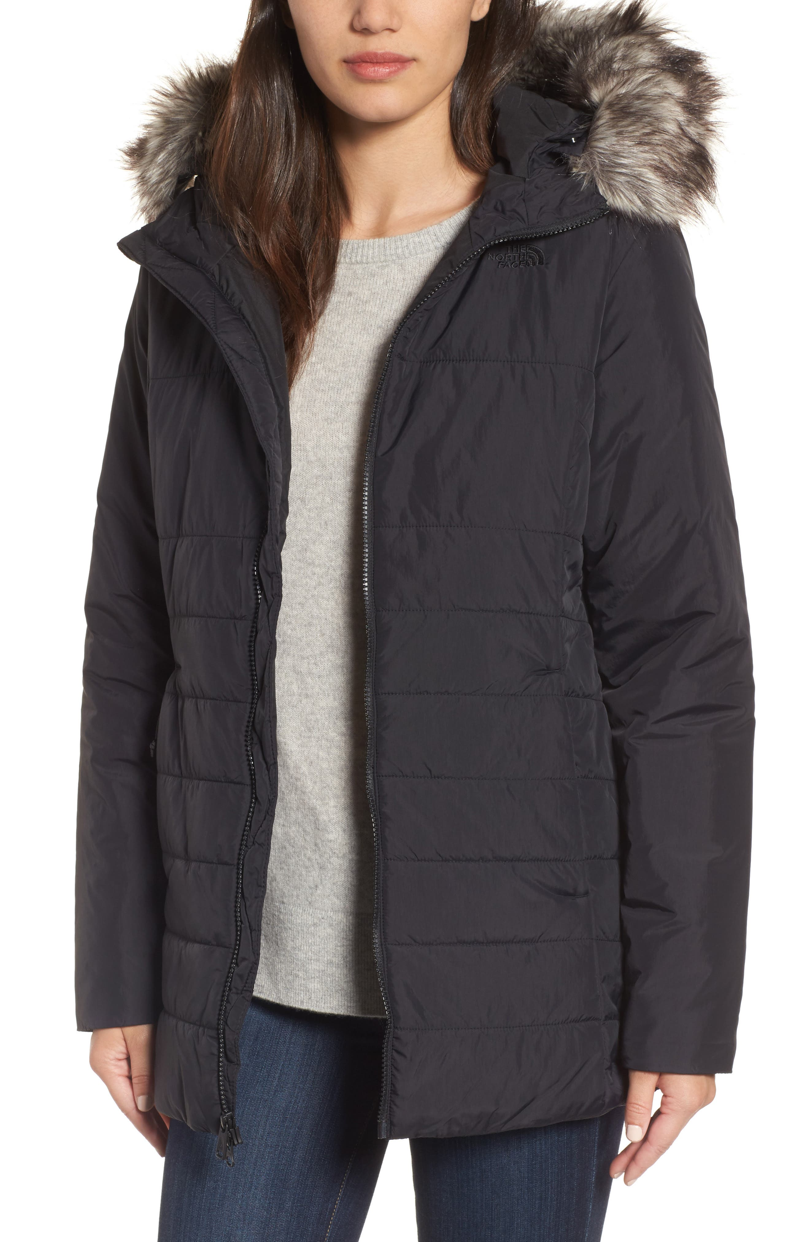 Alternate Image 1 Selected - The North Face Harway Heatseeker™ Water-Resistant Jacket with Faux Fur Trim