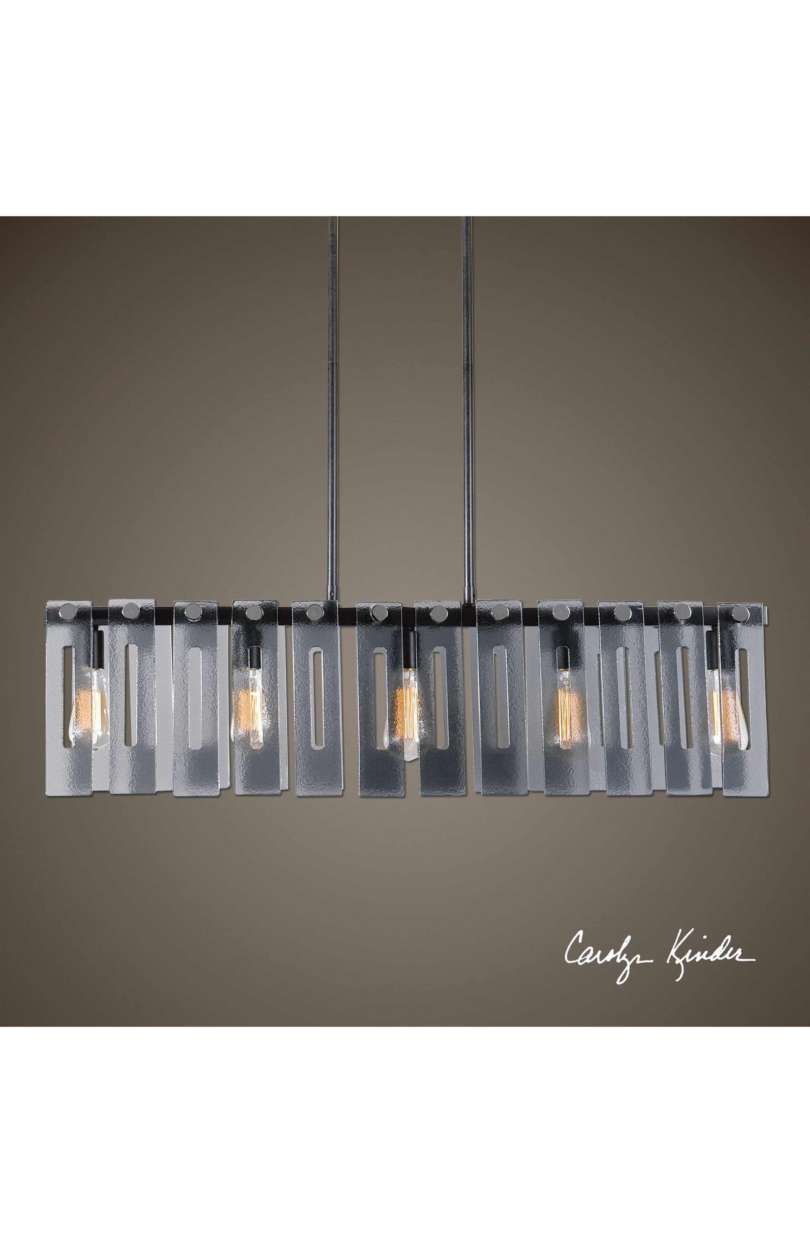 rectangular chandelier today lighting ventura rectangle metal fixture oliver new light nickel home product free garden james overstock shipping grey