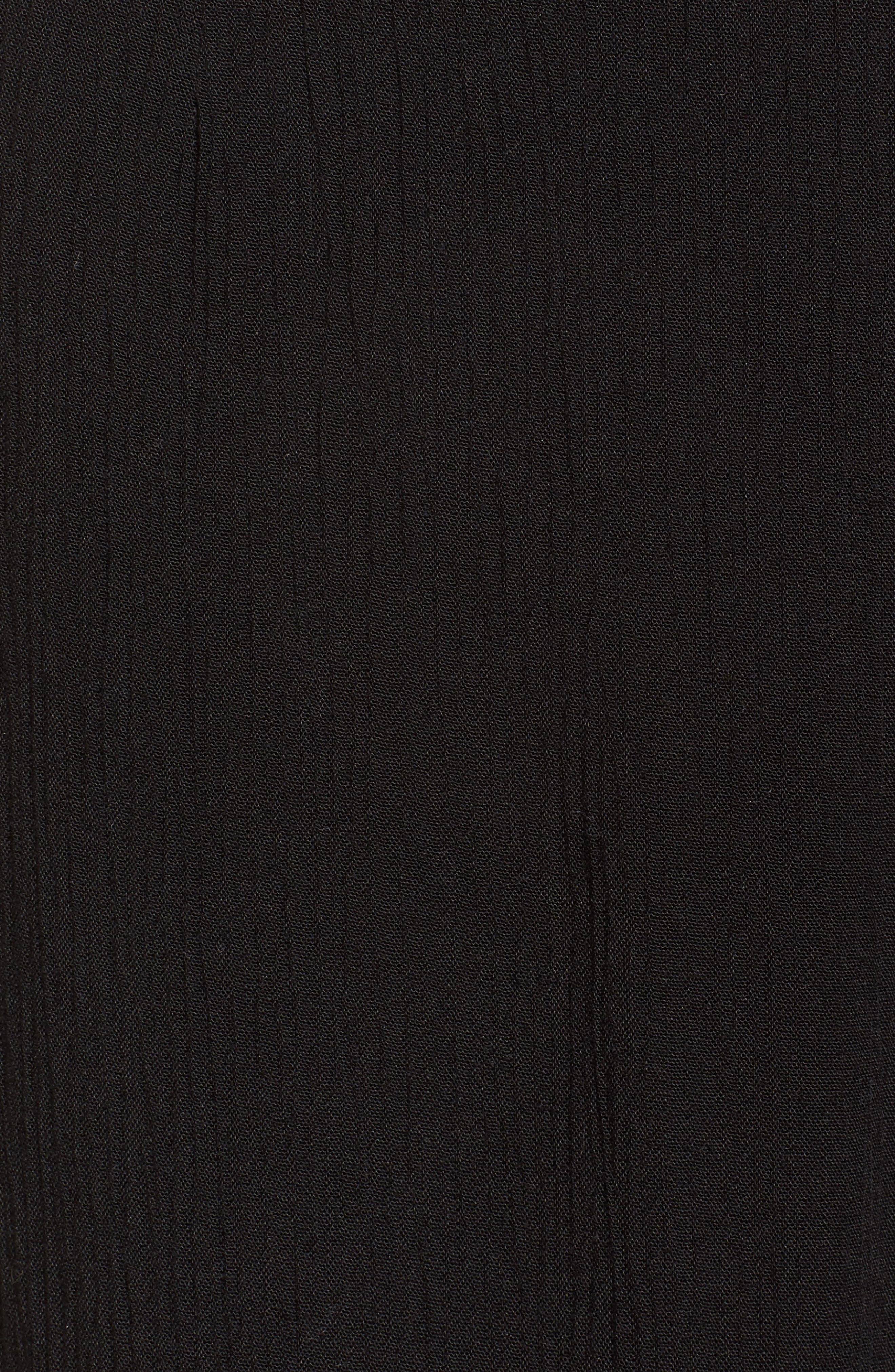 Strange Talk Crop Ruffle Hem Pants,                             Alternate thumbnail 6, color,                             Solid Black