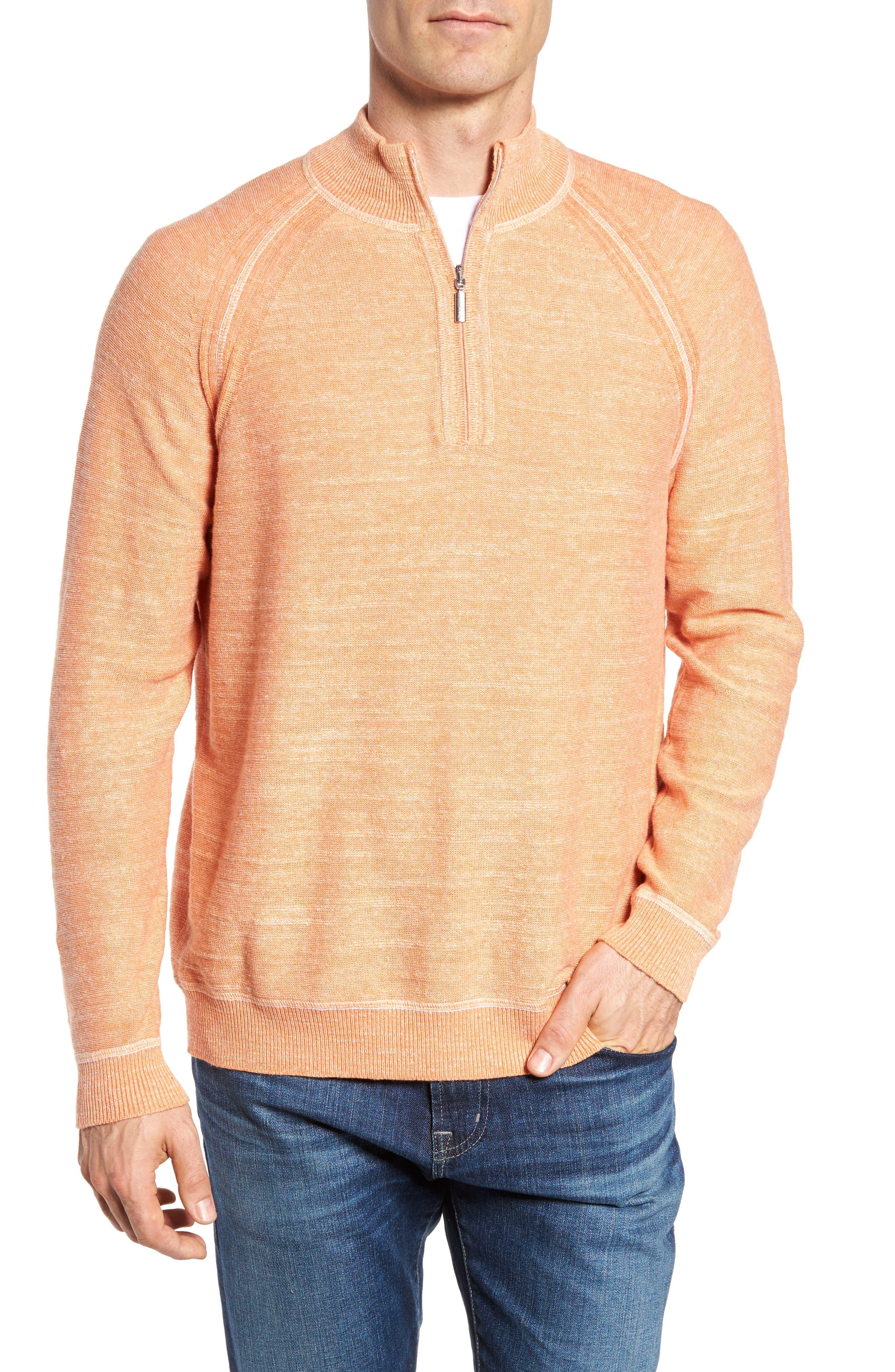 Sandy Bay Half-Zip Pullover,                         Main,                         color, Curuba Heather