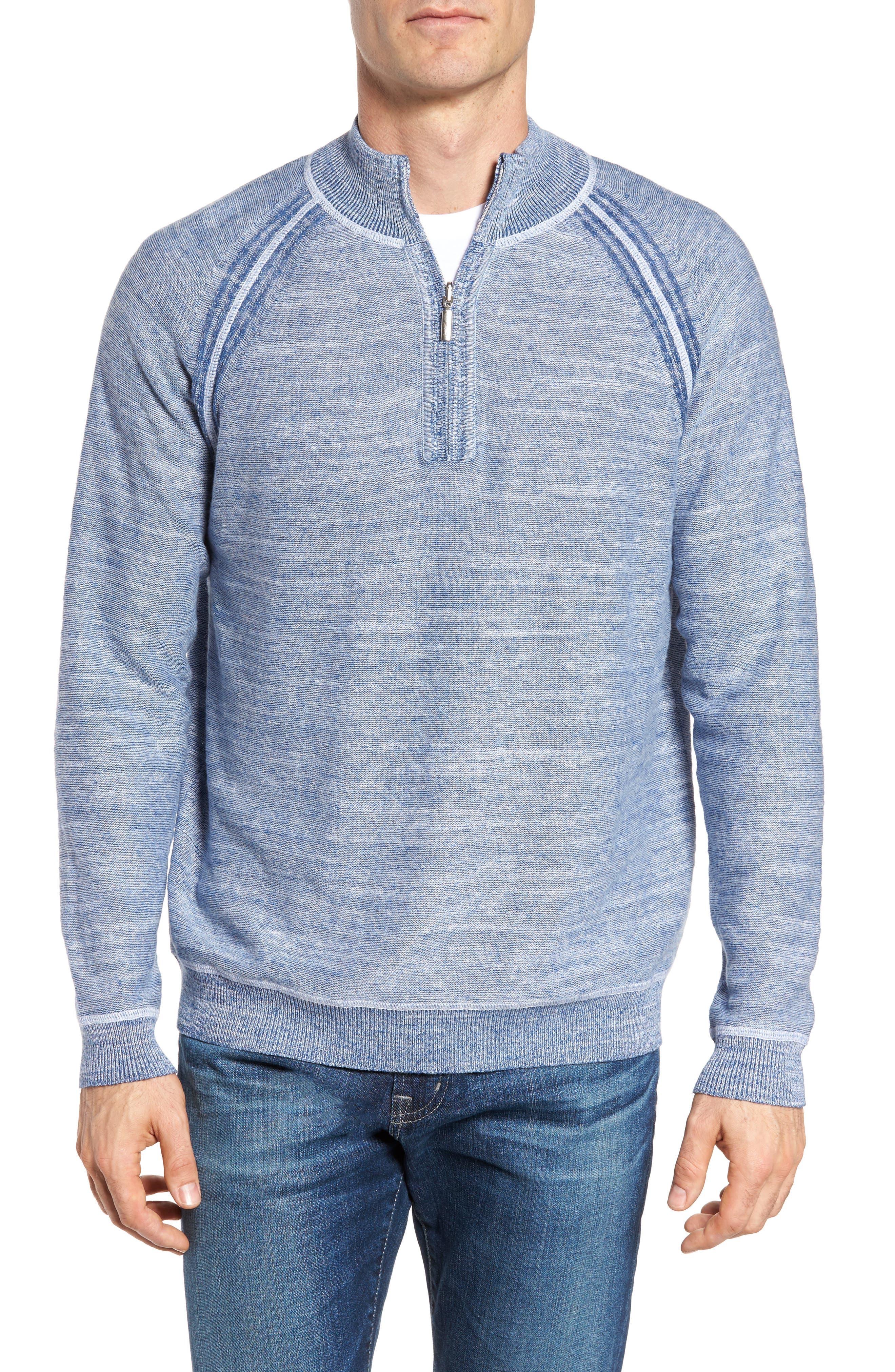 Sandy Bay Half-Zip Pullover,                         Main,                         color, Galaxy Blue Heather