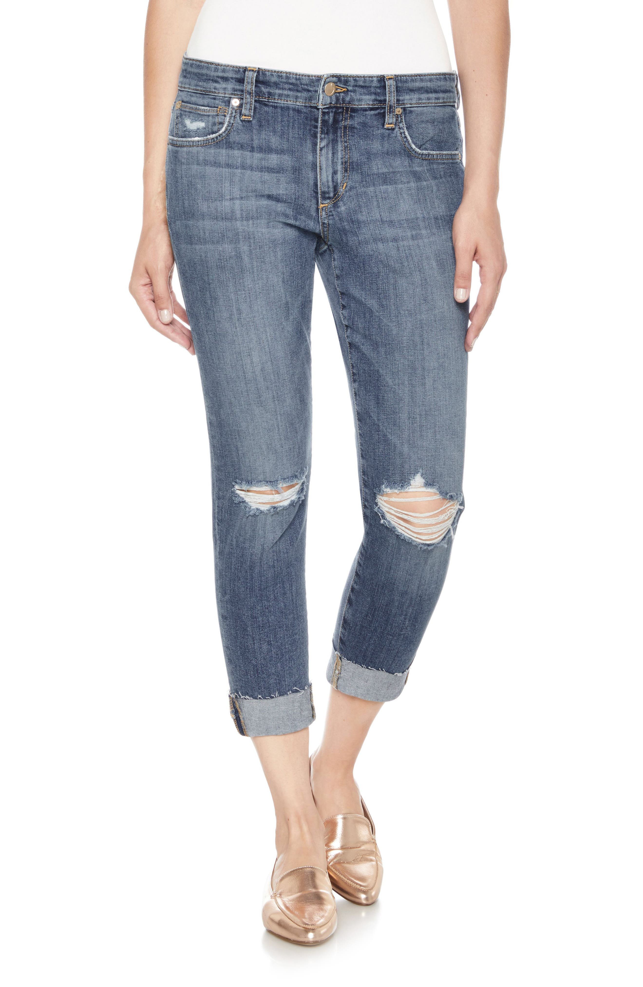Smith Crop Skinny Jeans,                         Main,                         color, Raschell