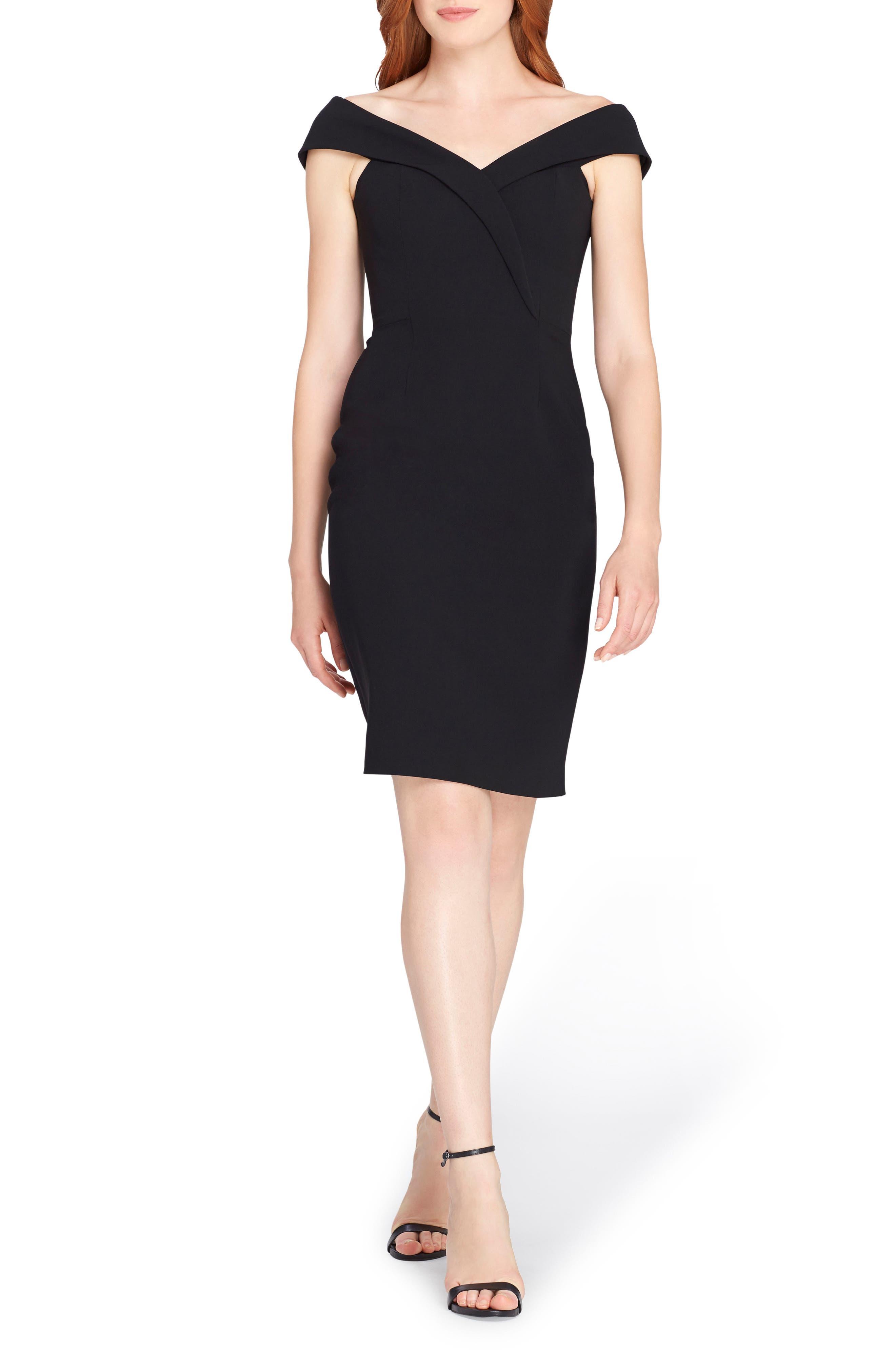 Portrait Collar Sheath Dress,                         Main,                         color, Black