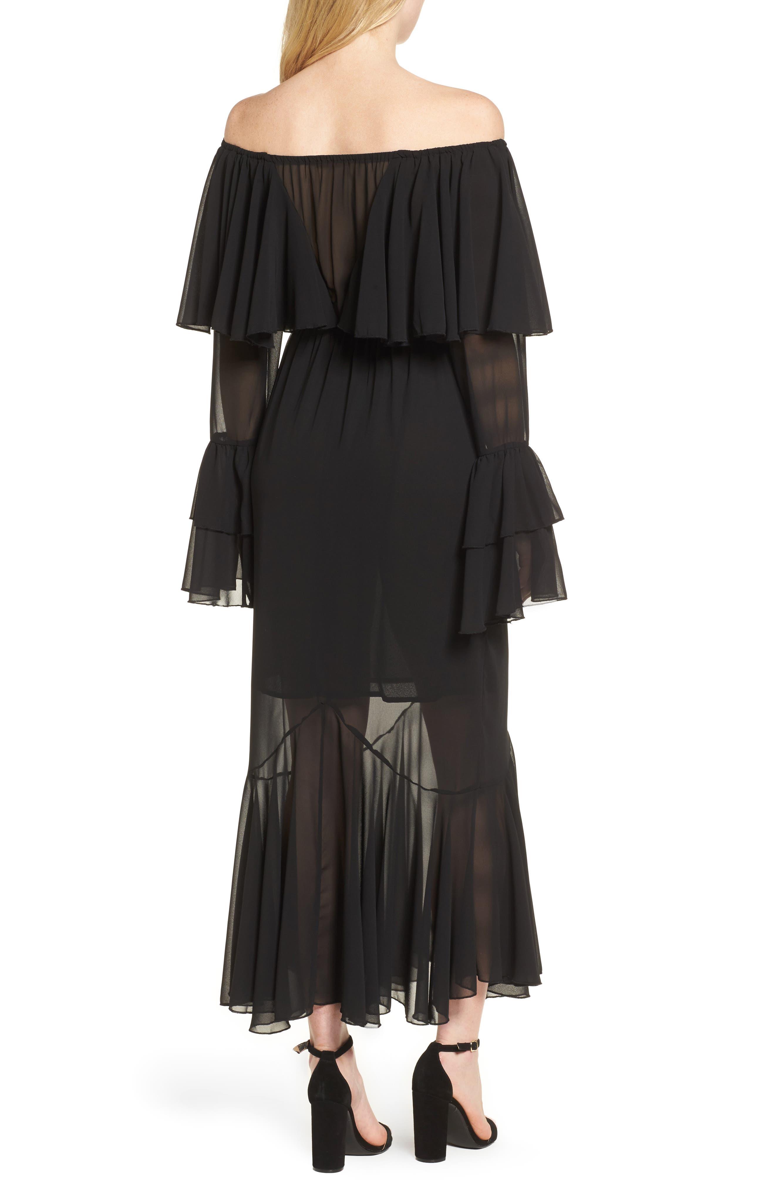 Day Dreamer Dress,                             Alternate thumbnail 2, color,                             Black