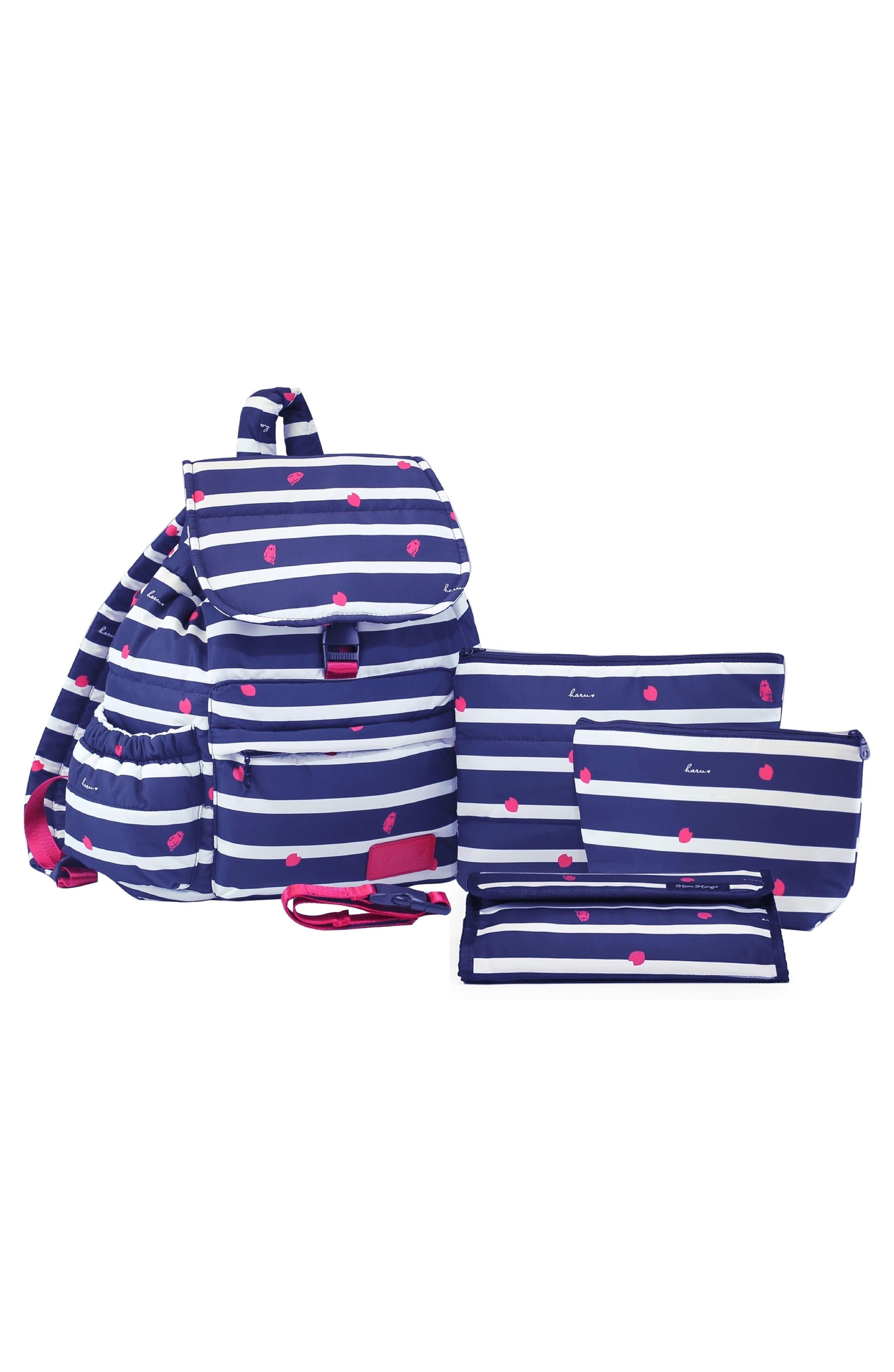 Alternate Image 2  - HARU Print Water-Repellent Diaper Backpack