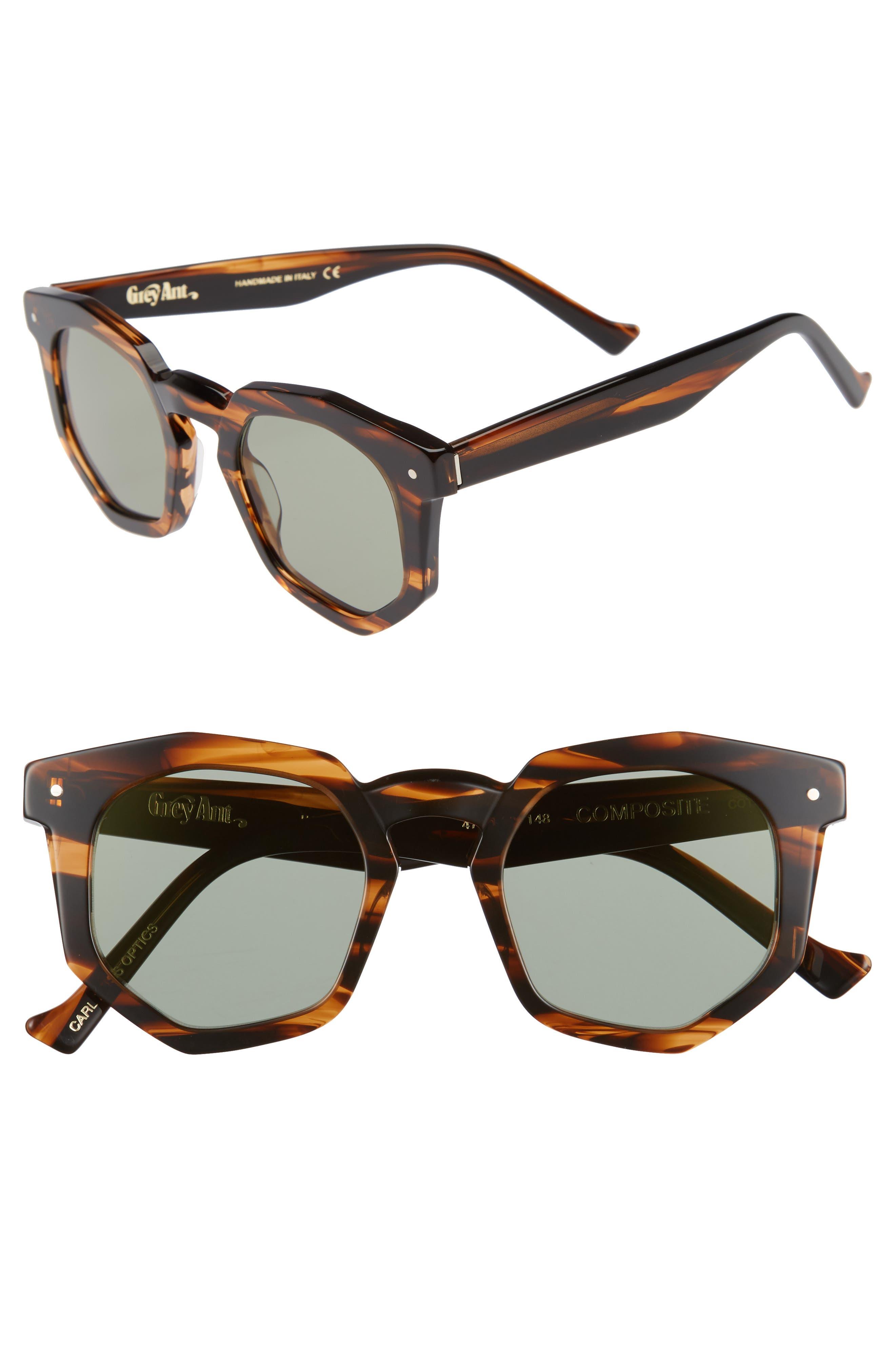 Composite 47mm Sunglasses,                         Main,                         color, Tortoise/ Olive