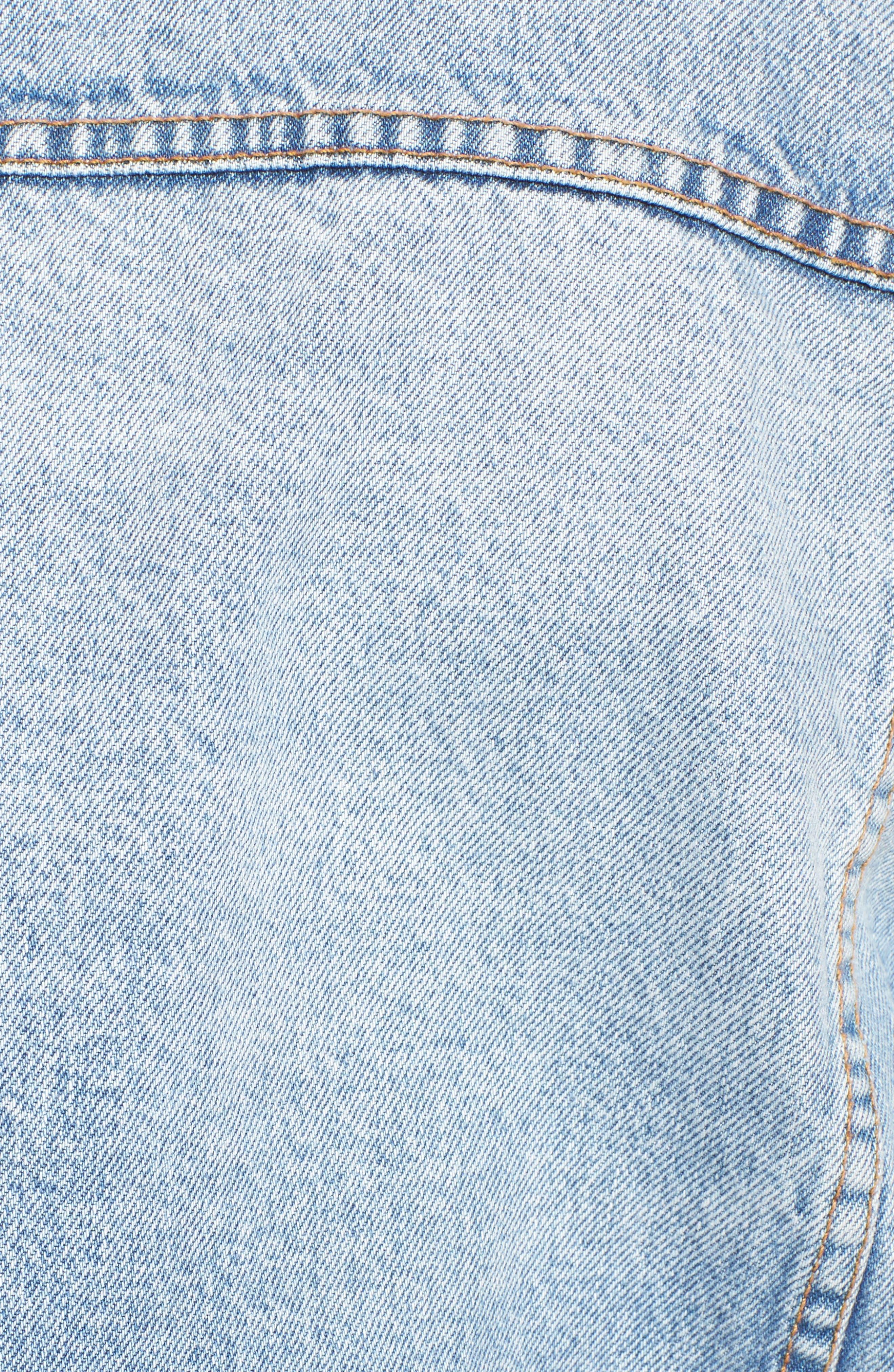 The Collin Crop Denim Jacket,                             Alternate thumbnail 5, color,                             Branwen