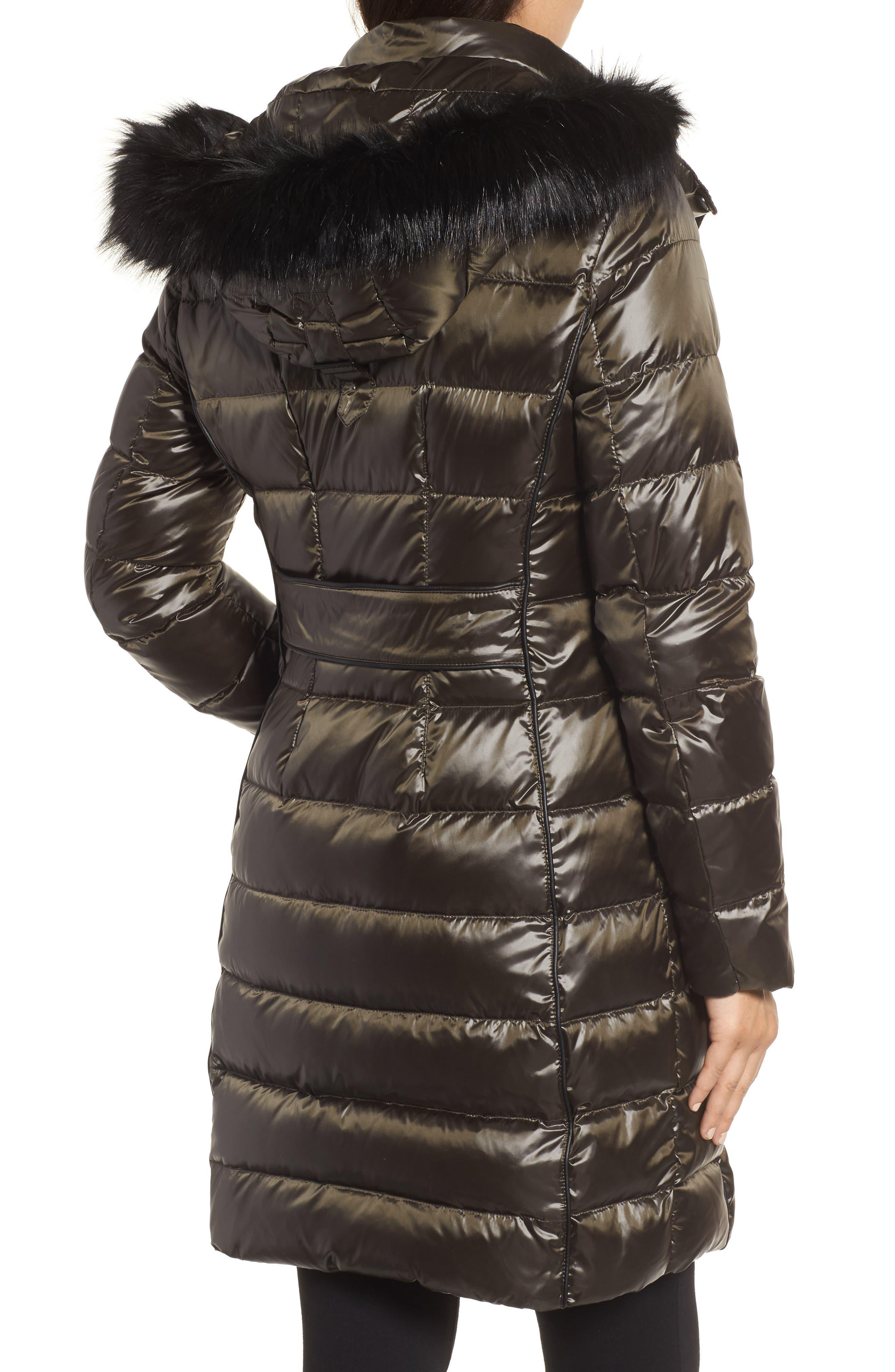 Alternate Image 3  - Donna Karan New York Down Puffer Coat with Faux Fur Trim