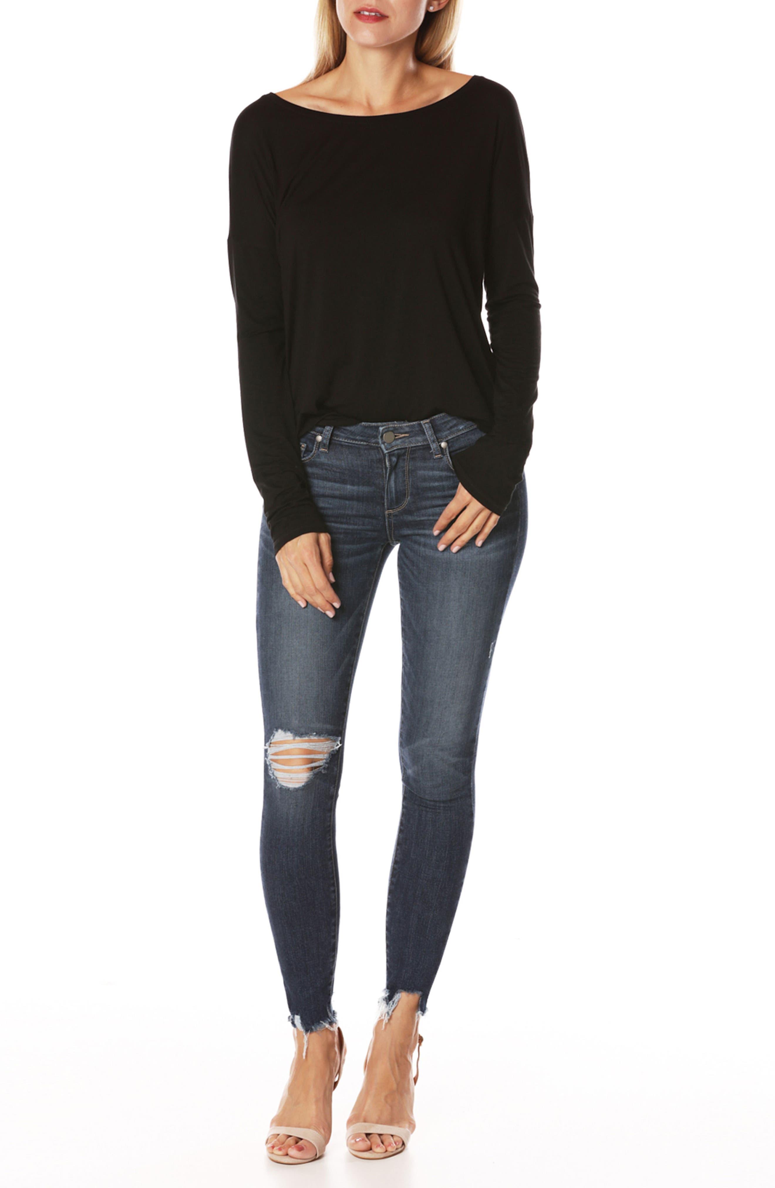 Alternate Image 3  - PAIGE Transcend Vintage - Verdugo Ankle Skinny Jeans (Danton Destructed)