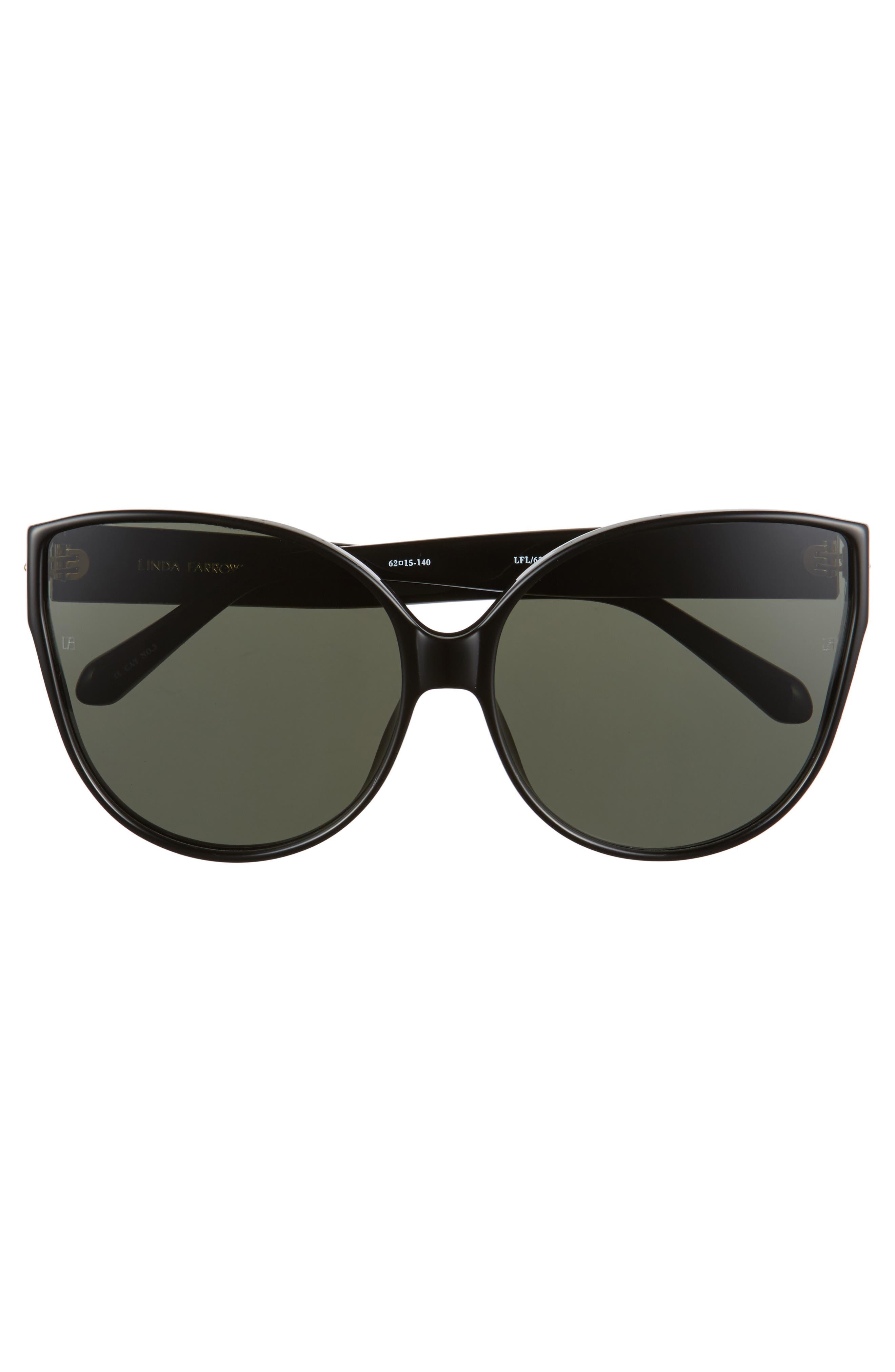 Alternate Image 3  - Linda Farrow 62mm Oversize Cat Eye Sunglasses
