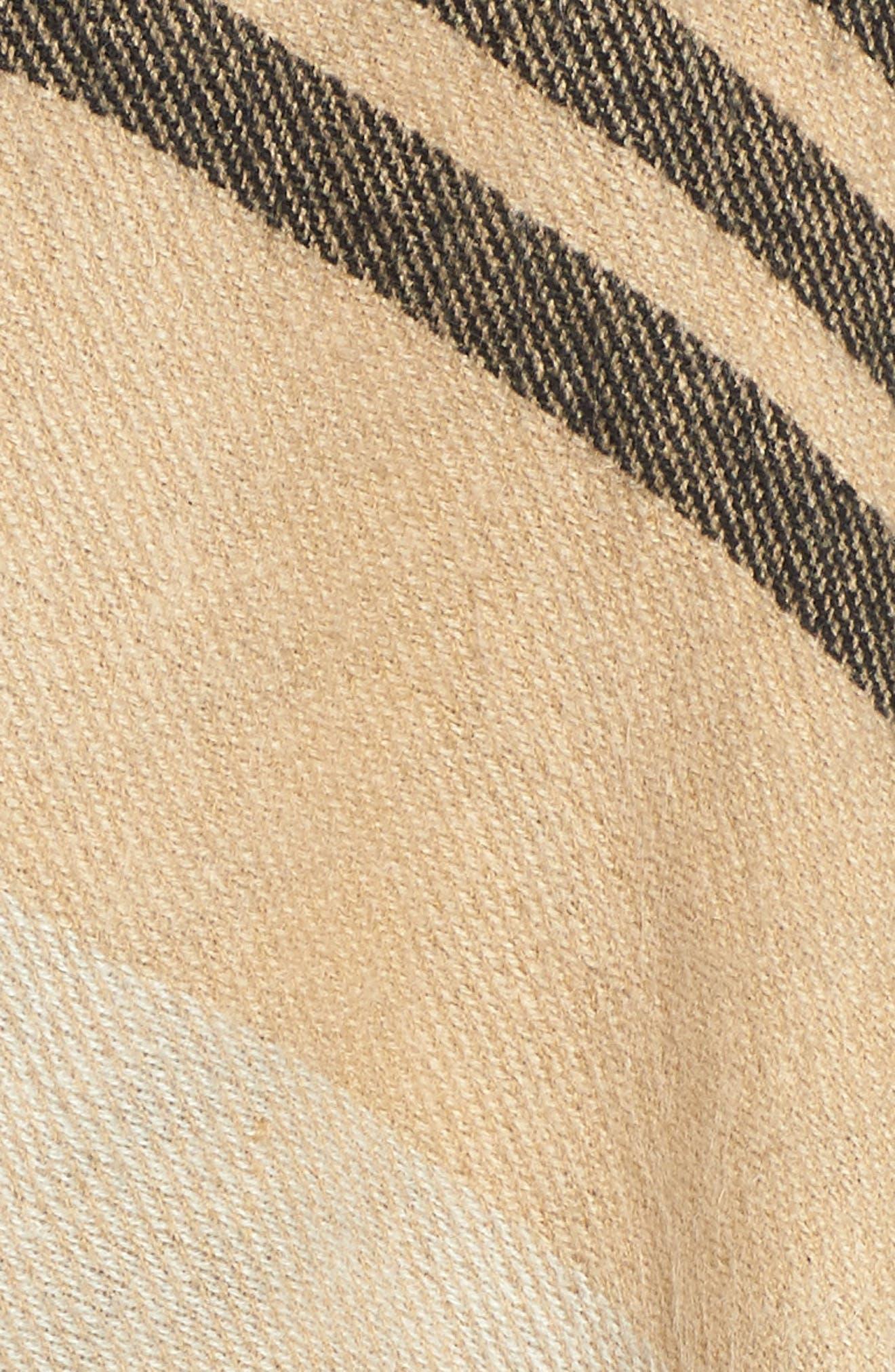 Stripe Woven Cape,                             Alternate thumbnail 6, color,                             Tan Multi