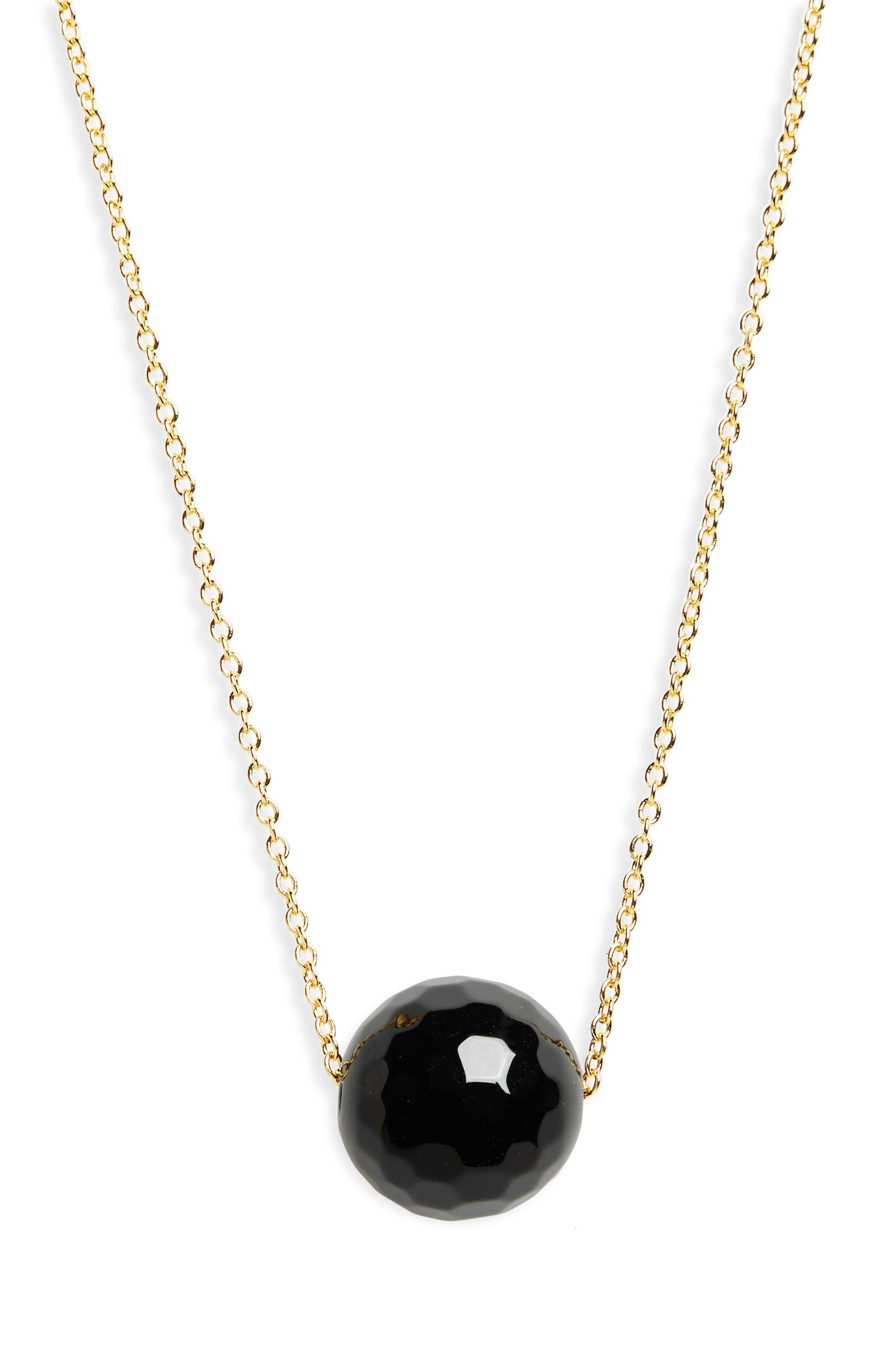 Main Image - gorjana Power Gemstone Bead Adjustable Necklace