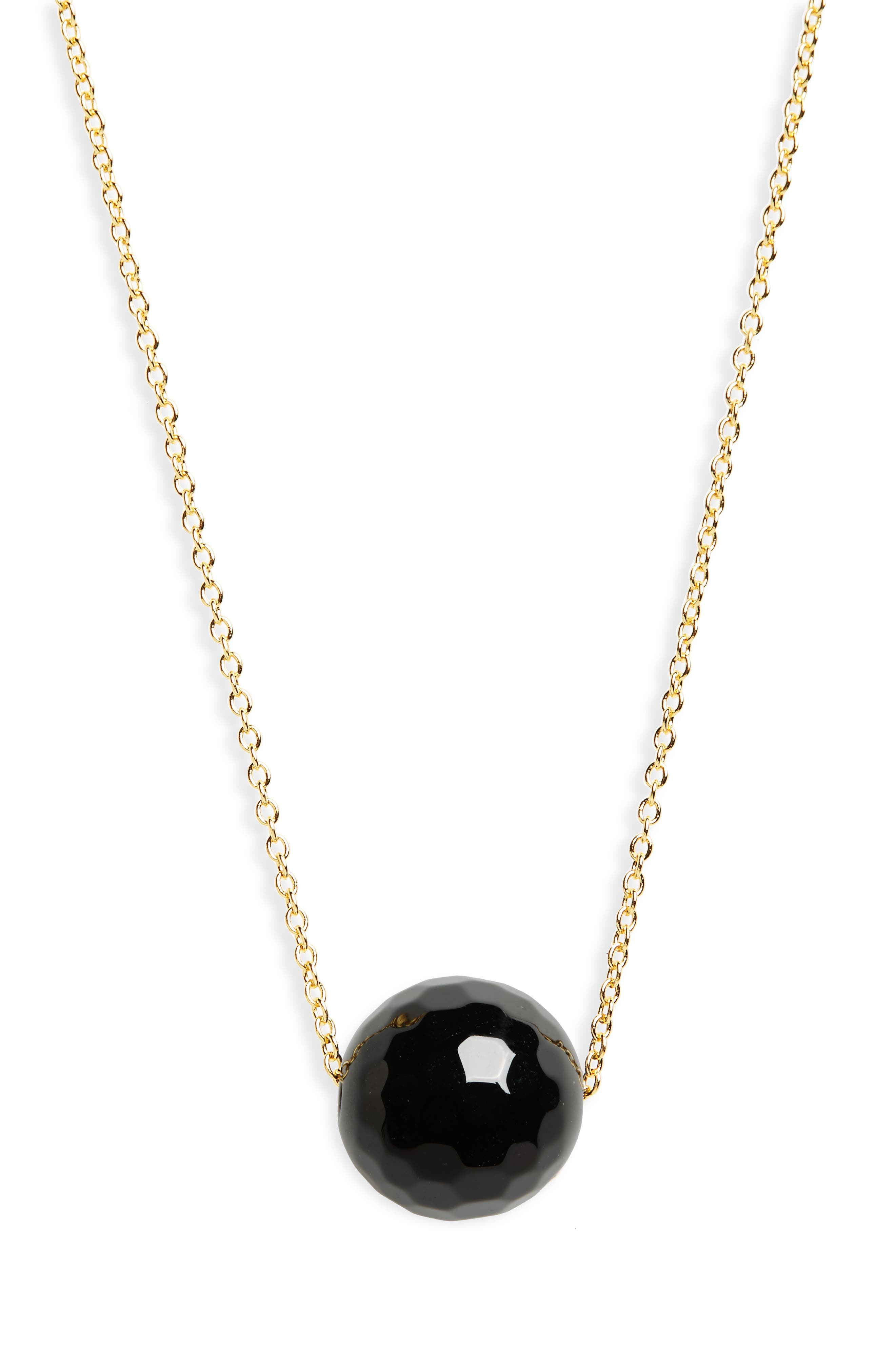 gorjana Power Gemstone Bead Adjustable Necklace