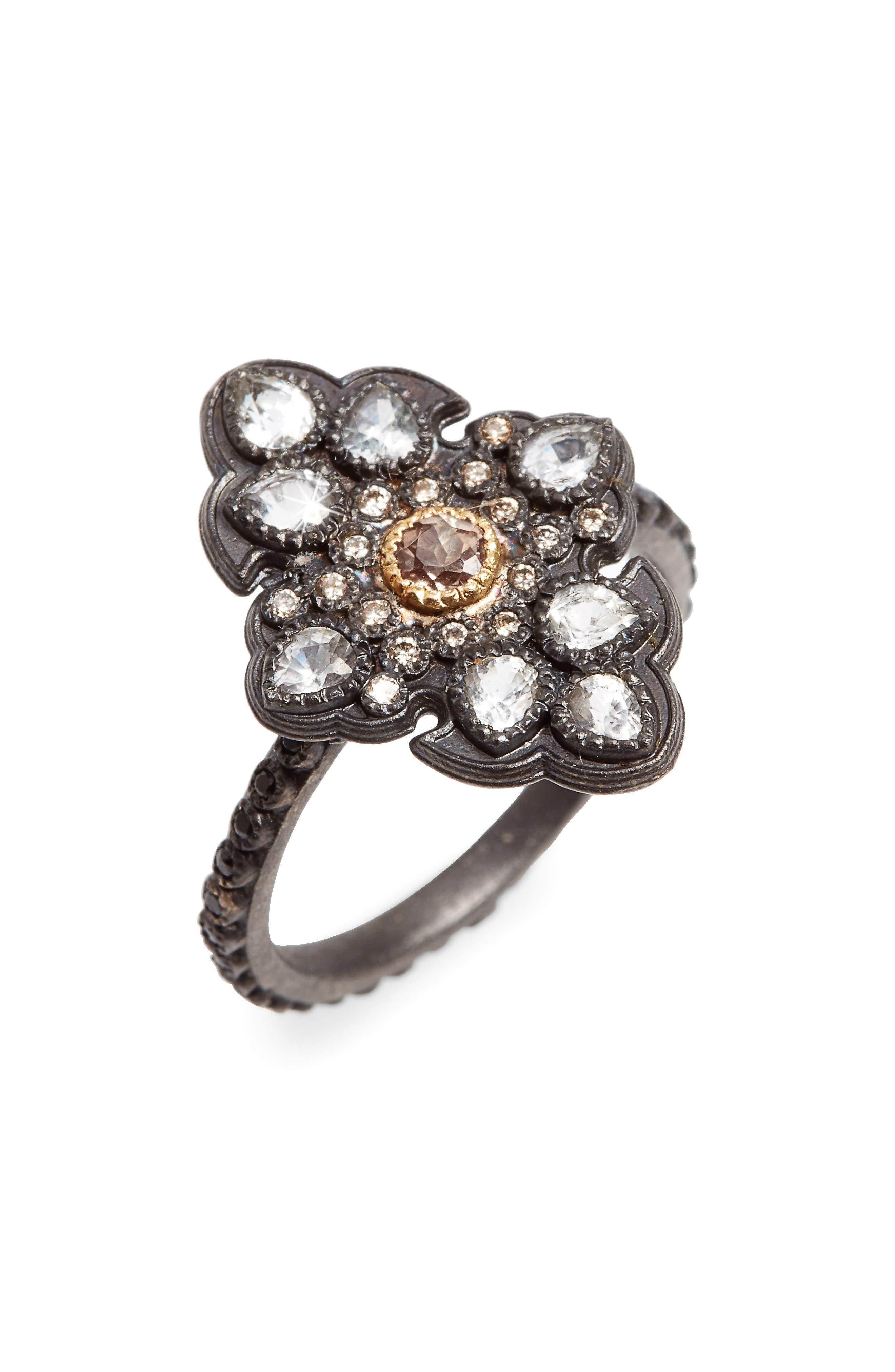 Armenta Old World Chalcedony & Diamond Ring, Size 6.5