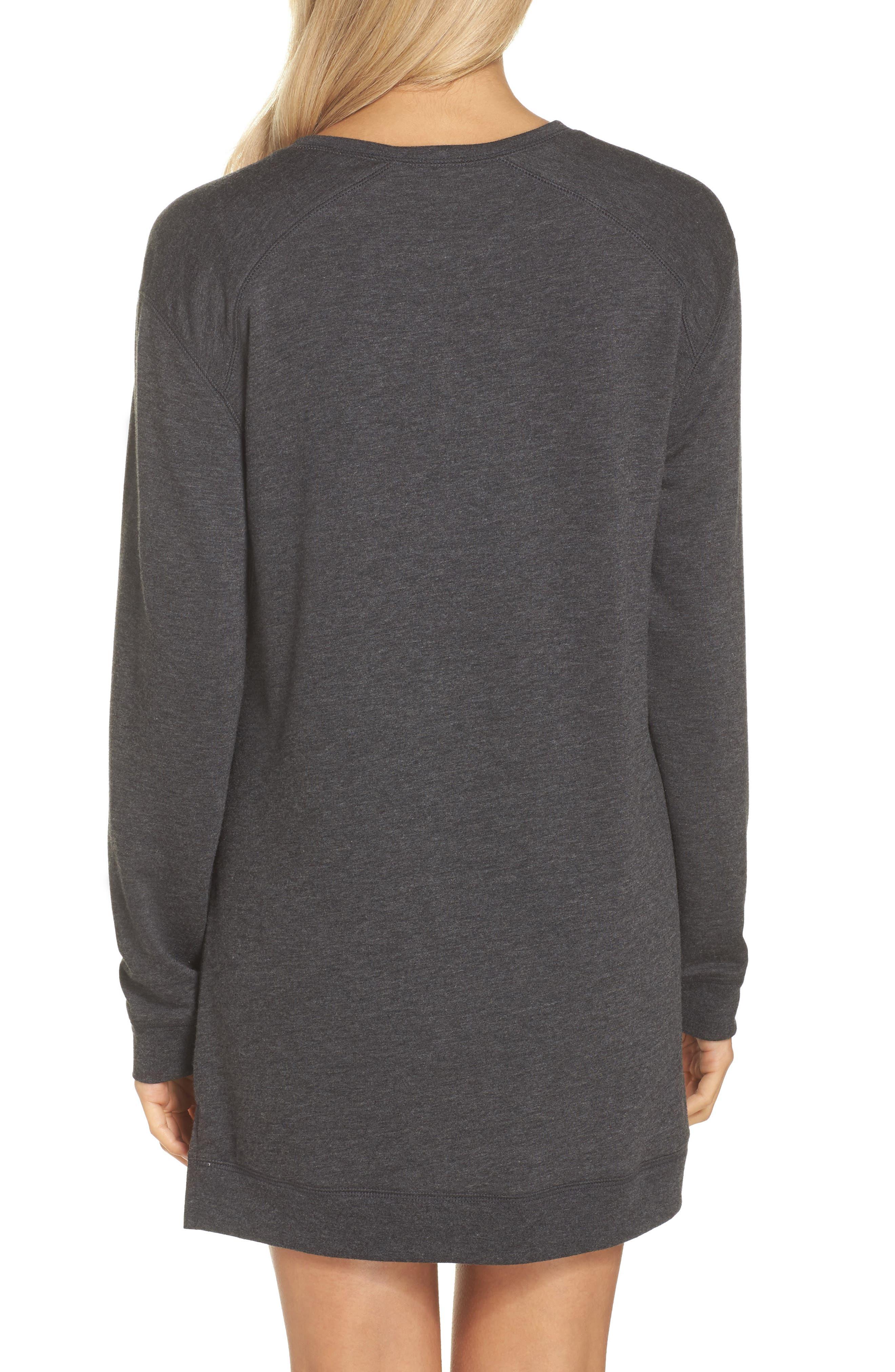 Sleepy Tunic Shirt,                             Alternate thumbnail 2, color,                             Grey Wolf Heather