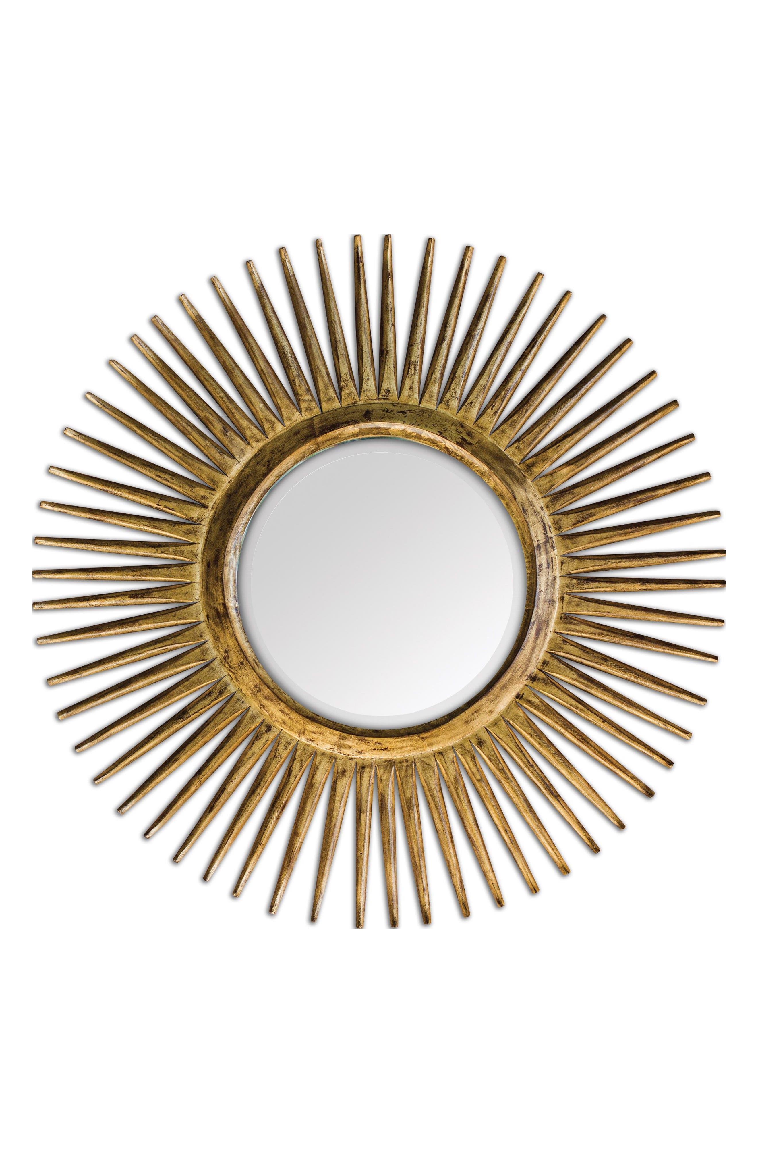 Destello Wall Mirror,                         Main,                         color, Brown