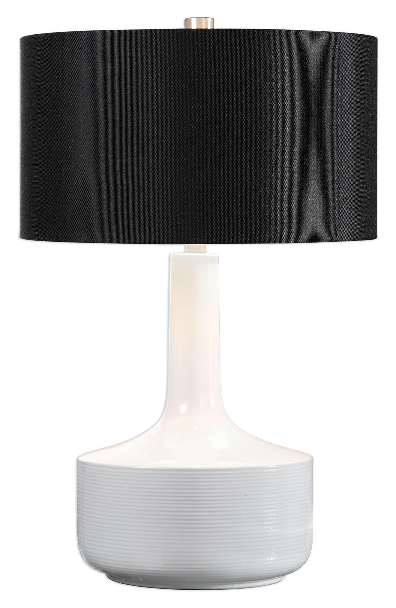 Drenova Table Lamp,                         Main,                         color, White