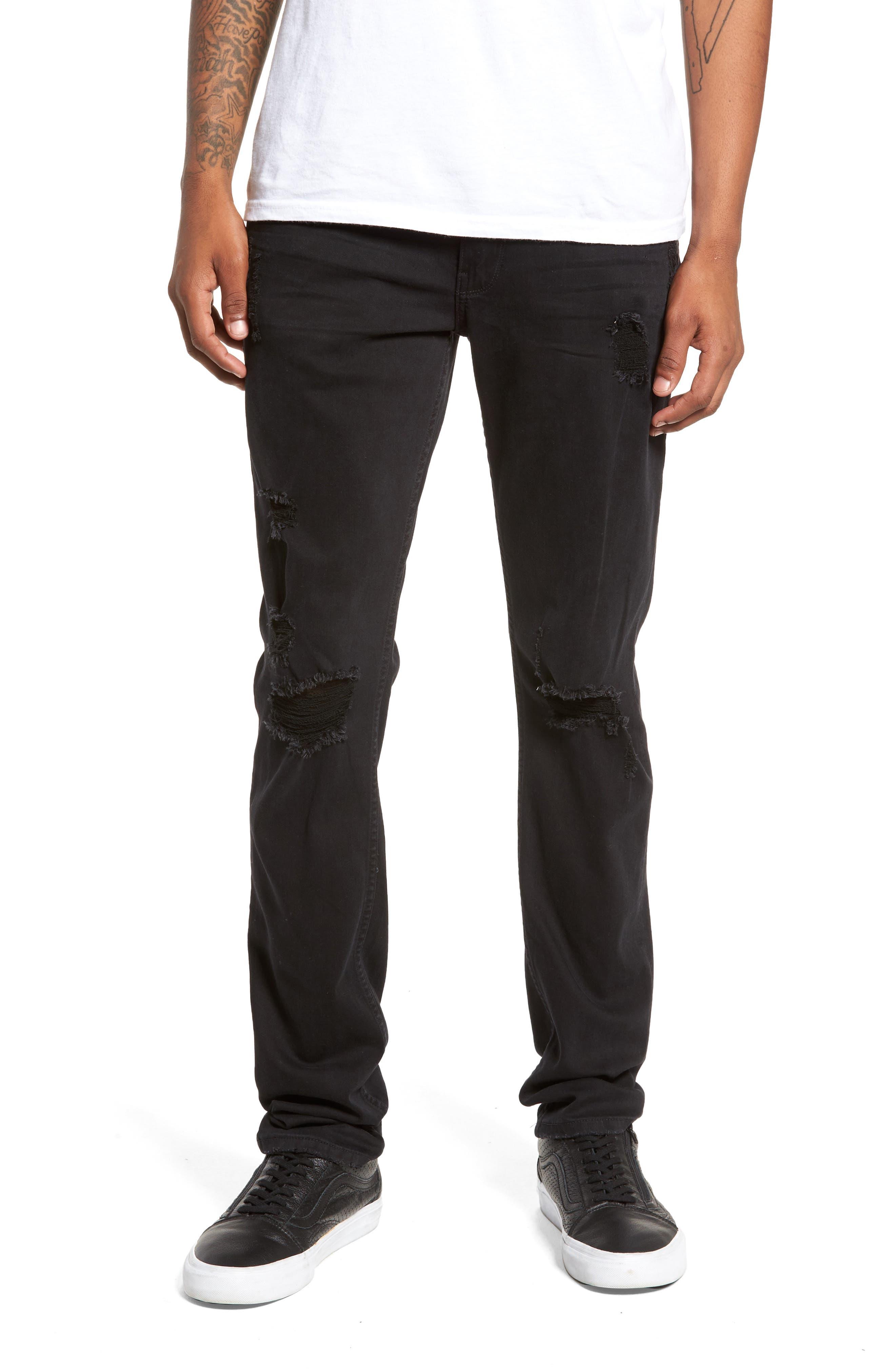 PAIGE Transcend - Croft Skinny Fit Jeans (Adam Destructed)