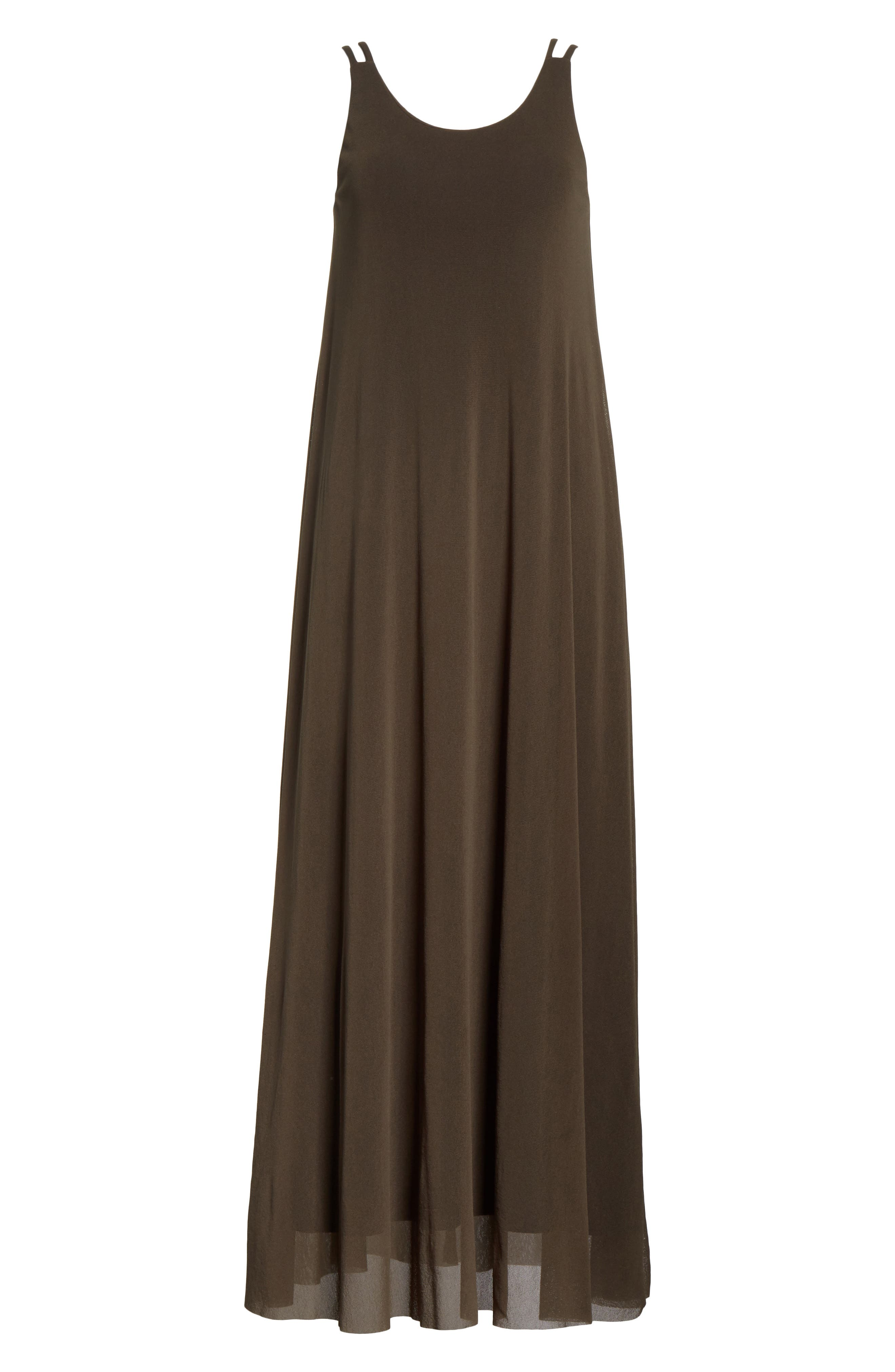 Tulle Strappy Maxi Dress,                             Alternate thumbnail 7, color,                             Dandy