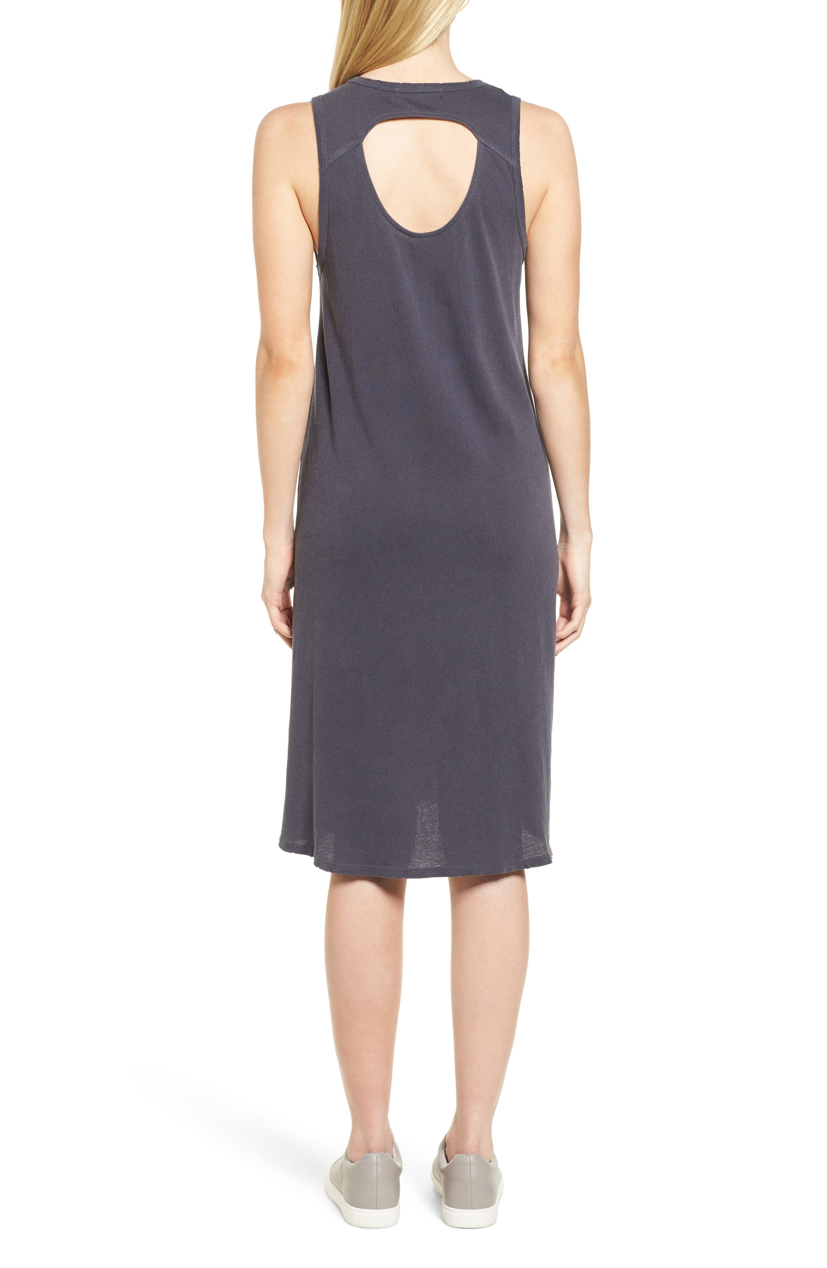 Boo Jersey Tank Dress,                             Alternate thumbnail 2, color,                             Asphalt