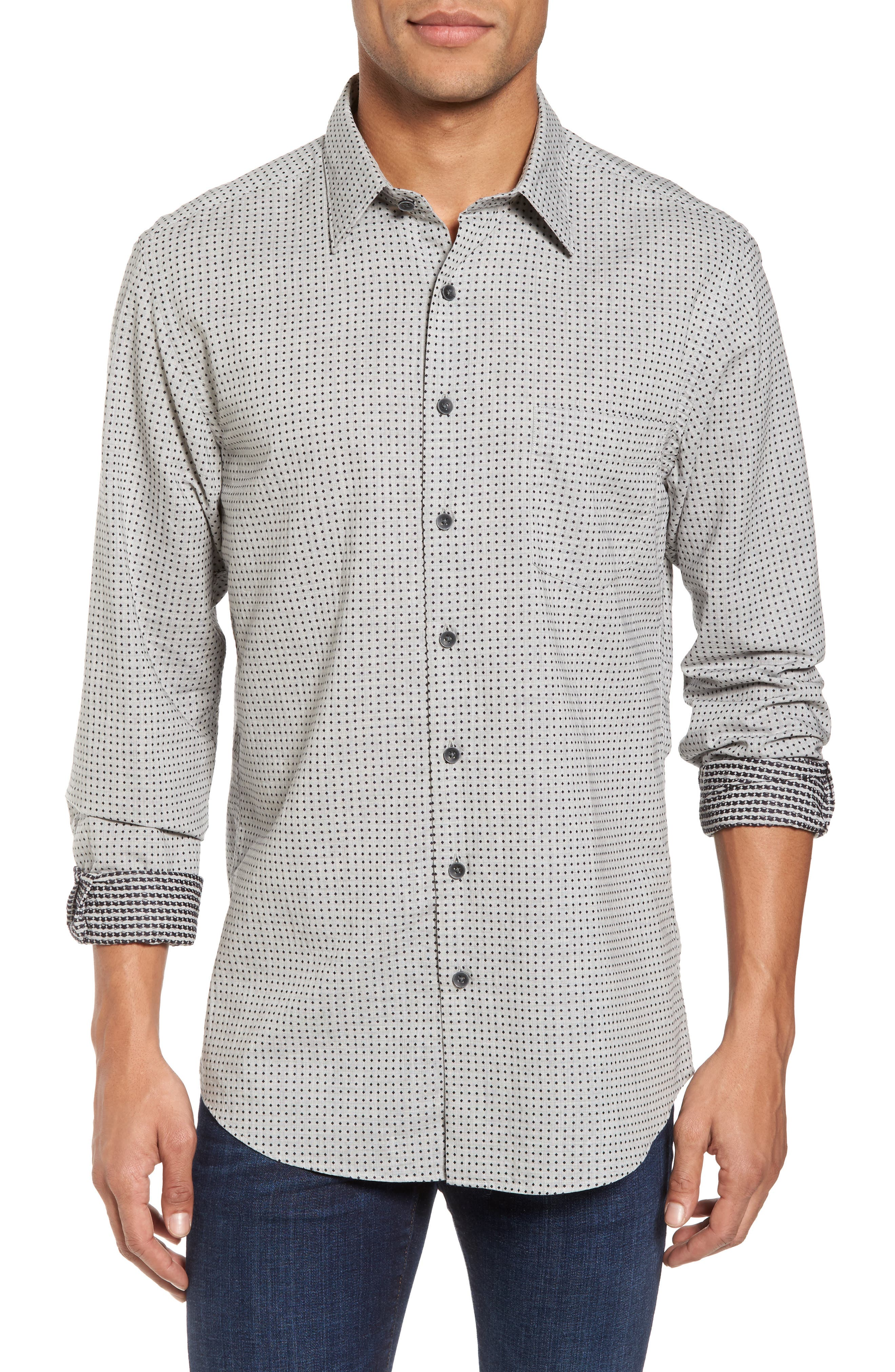 Rodd & Gunn Judgeford Slim Fit Jacquard Sport Shirt