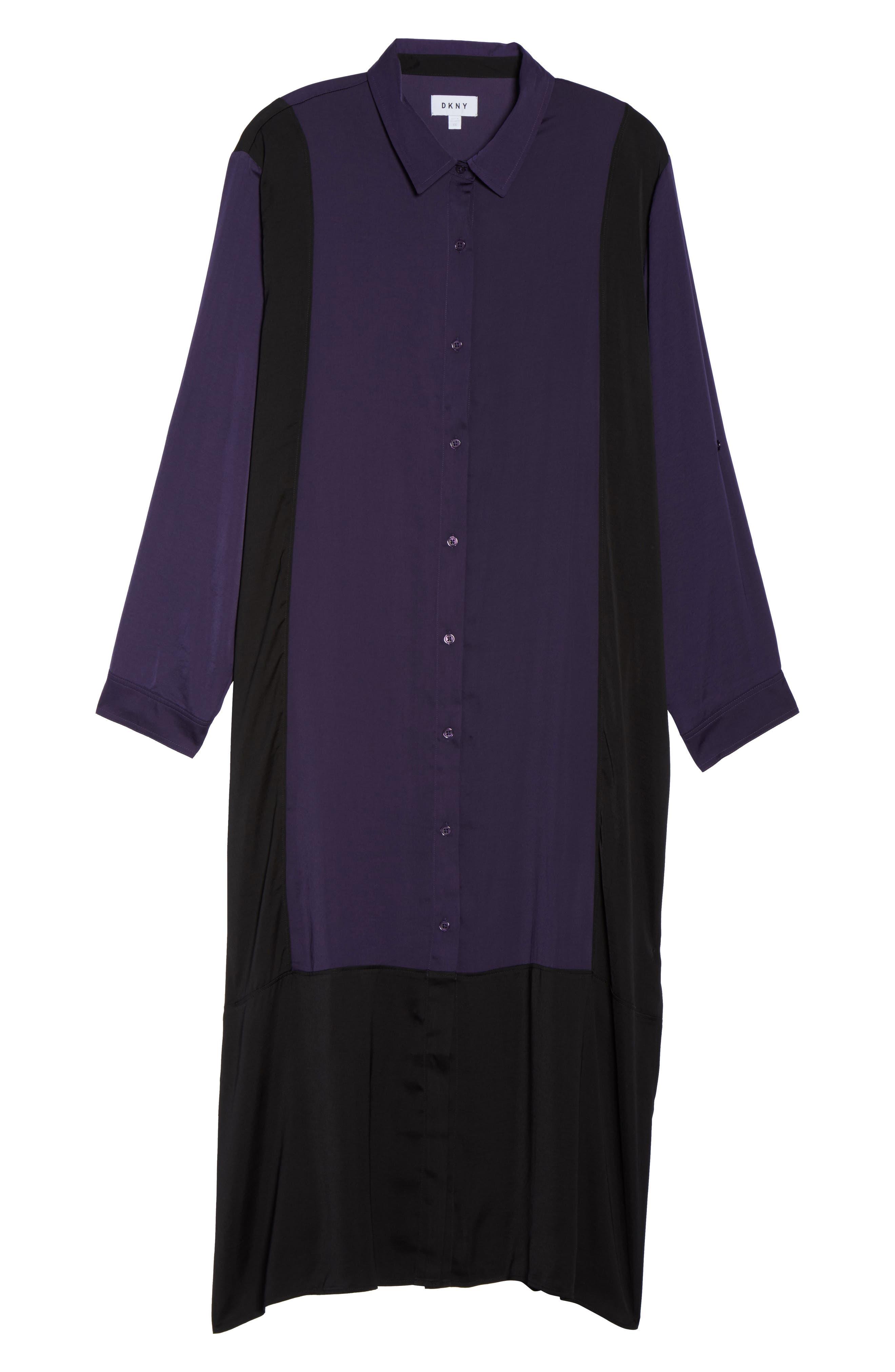 Alternate Image 4  - DKNY Satin Maxi Sleep Shirt (Plus Size)