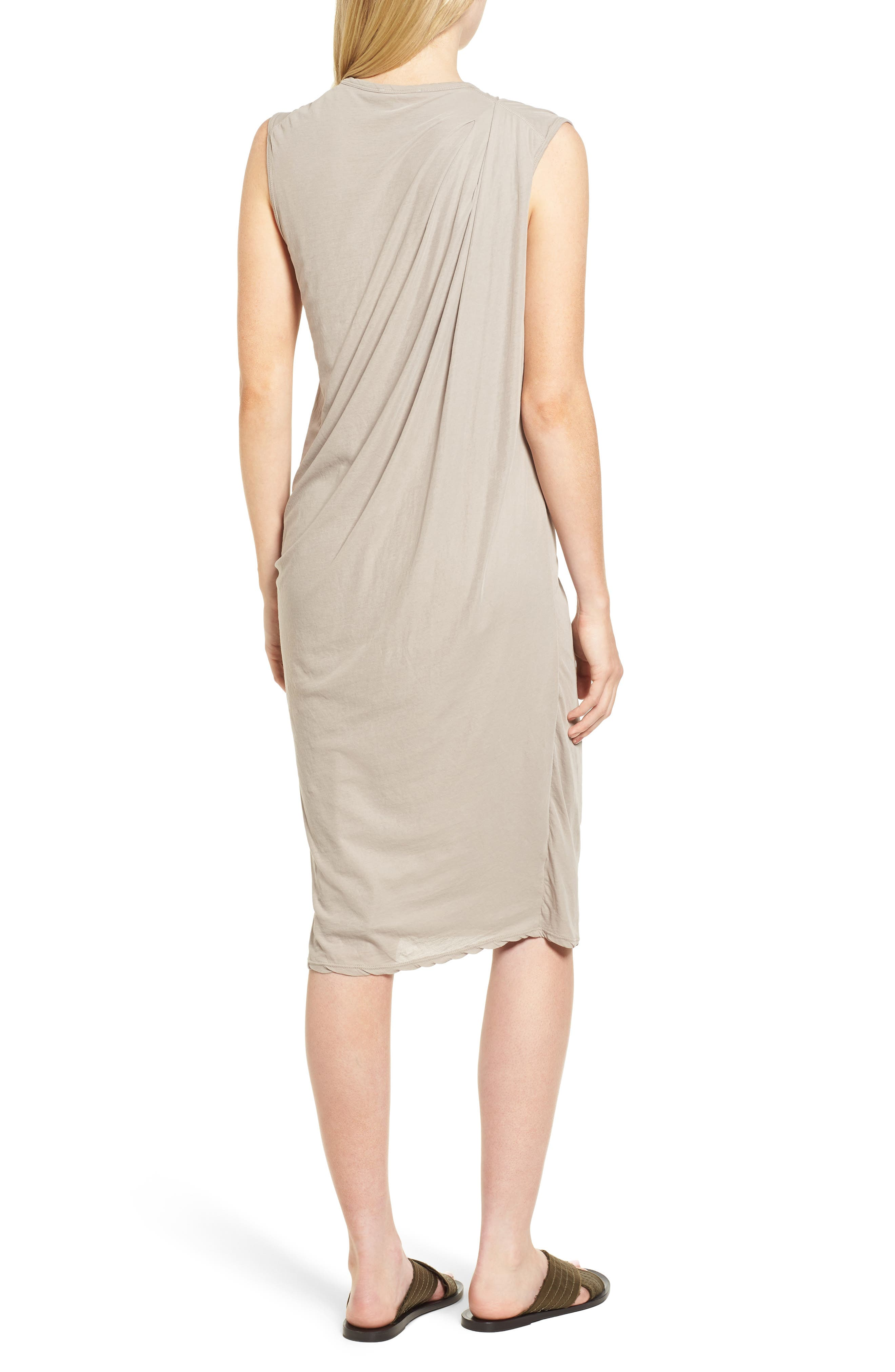 Alternate Image 2  - James Perse Draped Midi Dress