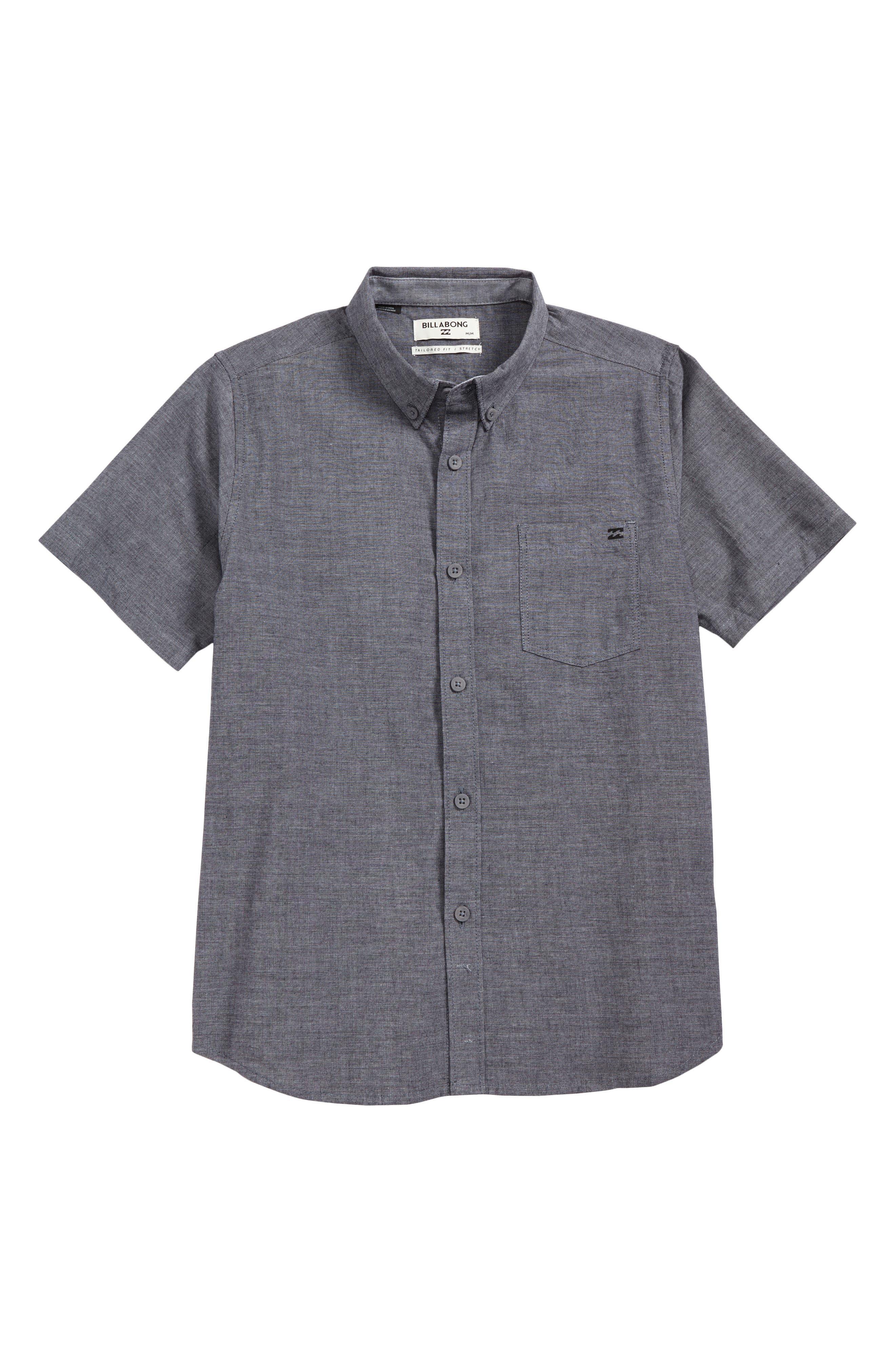 All Day Chambray Shirt,                         Main,                         color, Black