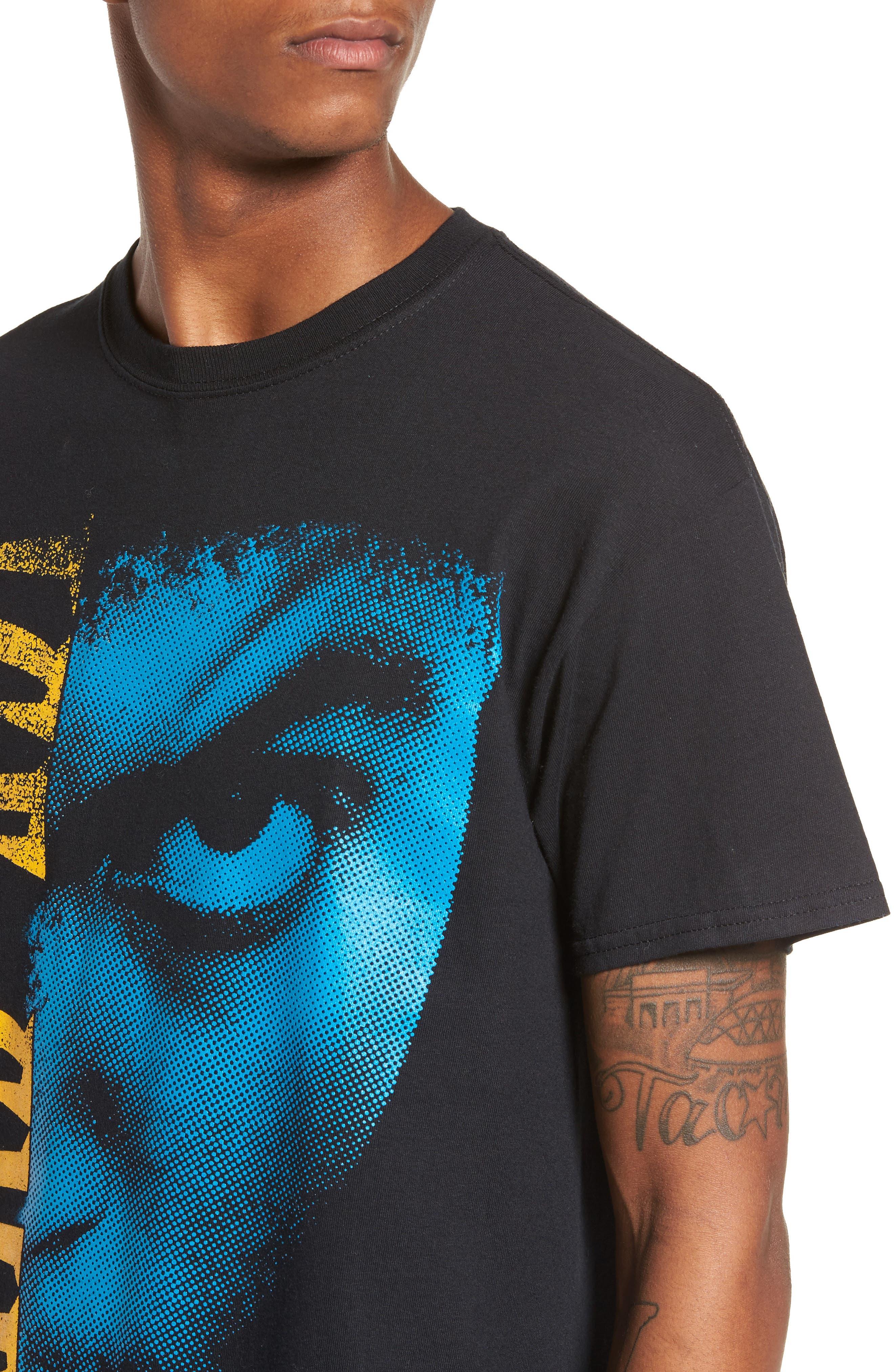 Ice Cube T-Shirt,                             Alternate thumbnail 4, color,                             Black Tee Ice Cube Face