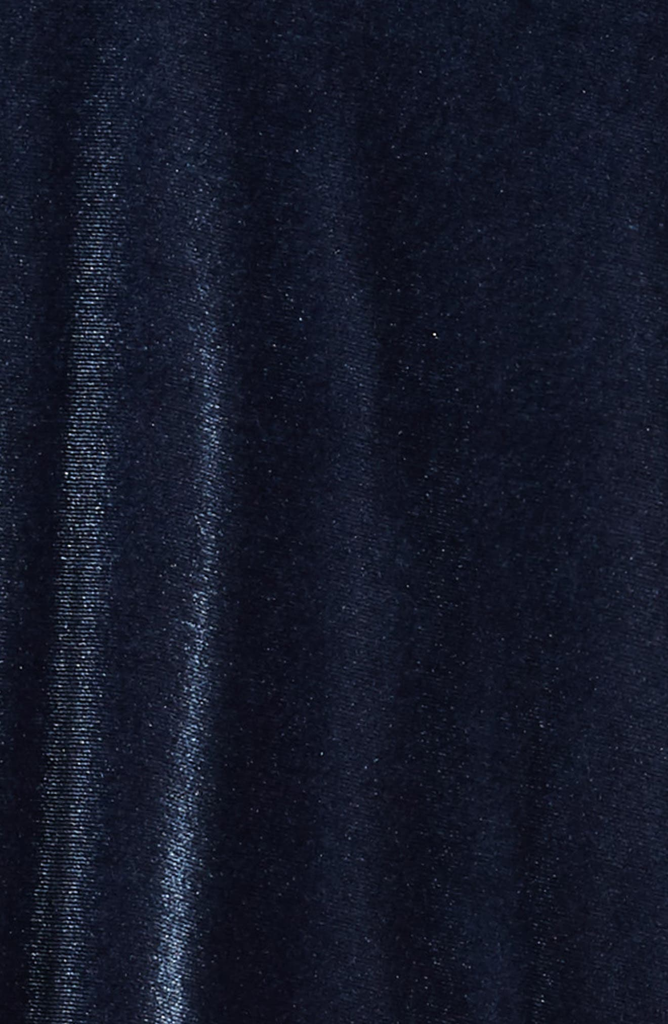 Velour Shift Dress,                             Alternate thumbnail 3, color,                             Blue