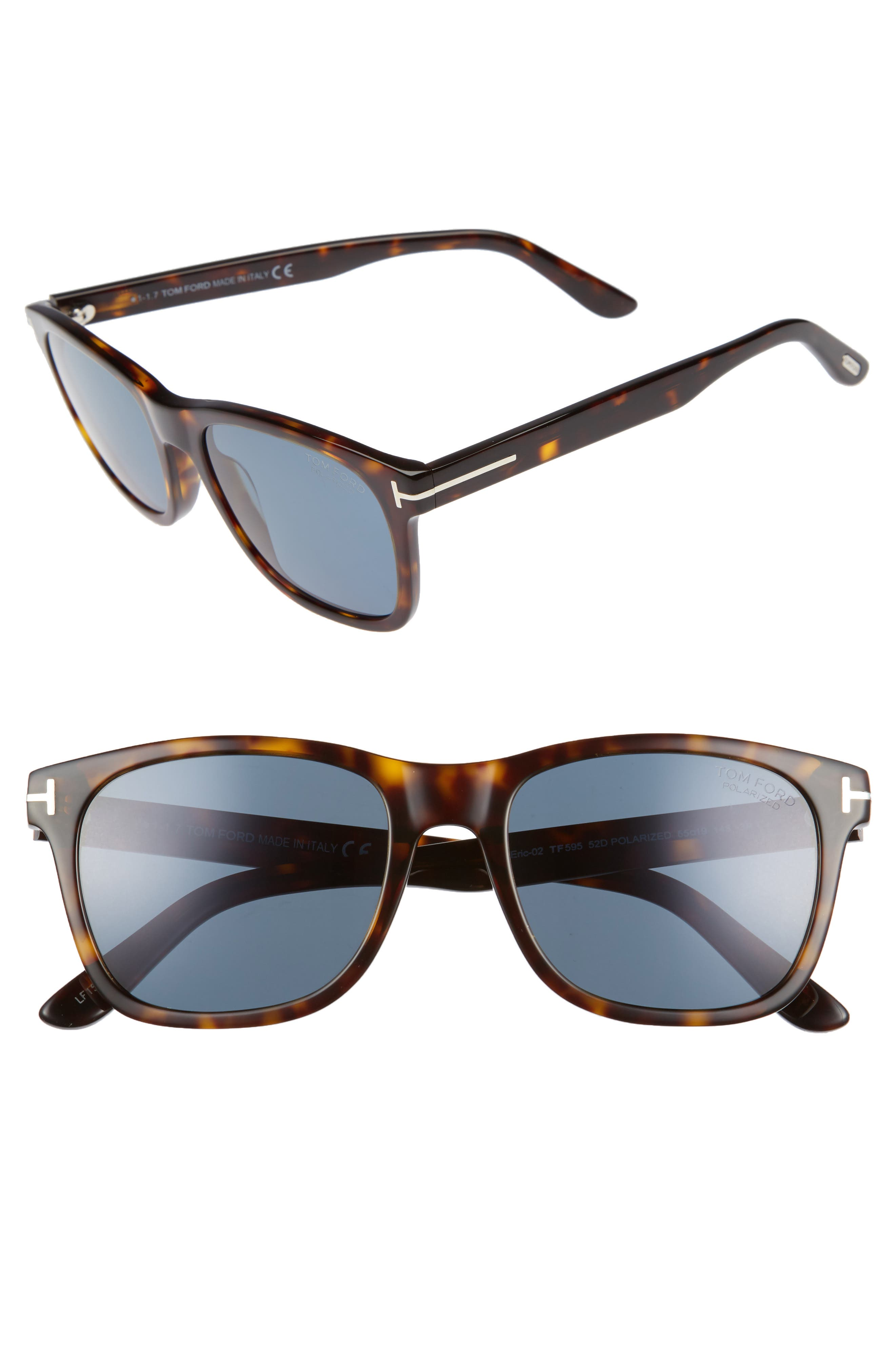 Alternate Image 1 Selected - Tom Ford Eric 55mm Polarized Sunglasses
