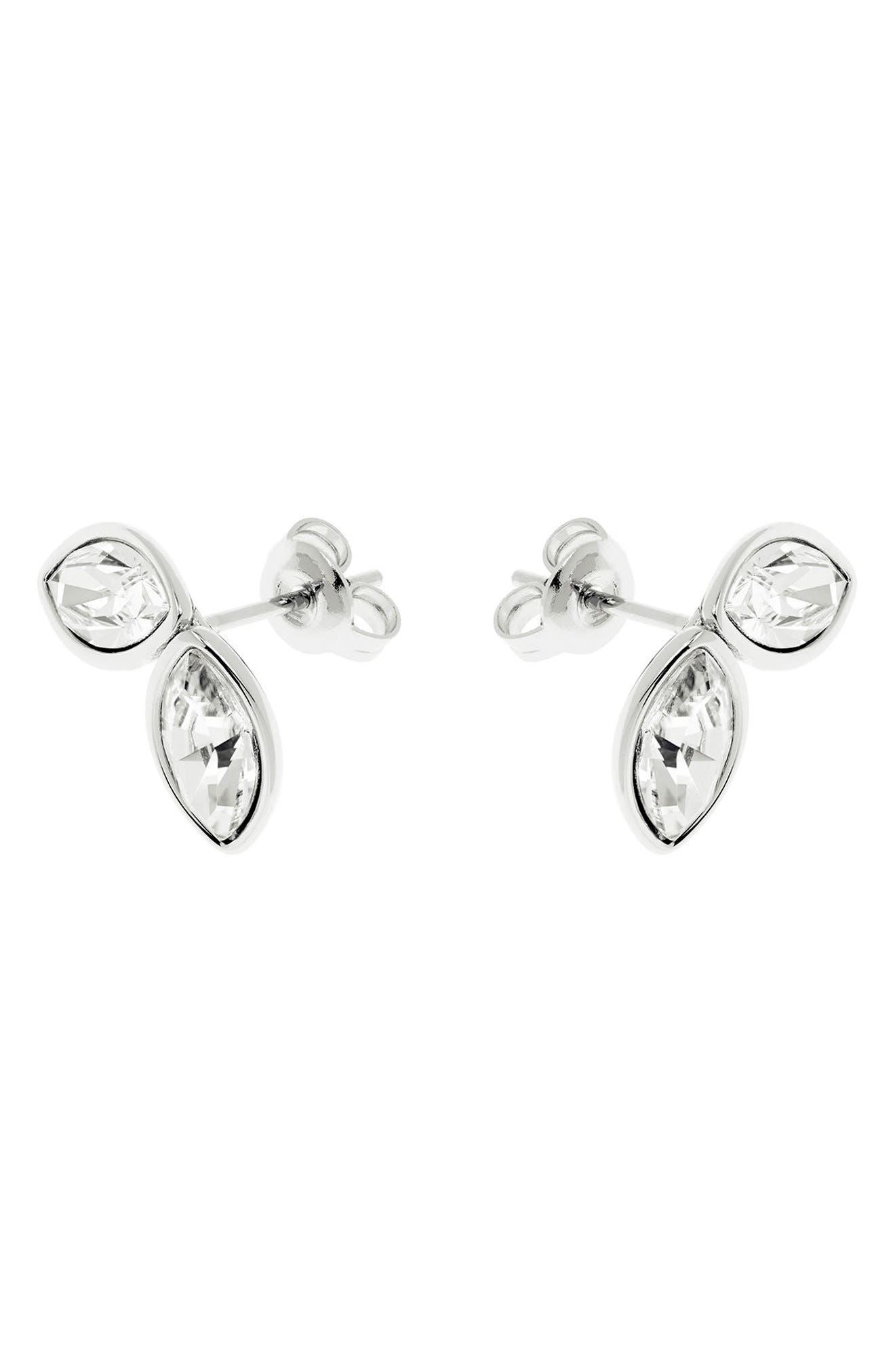 Geometric Bee Stud Earrings,                         Main,                         color, Crystal