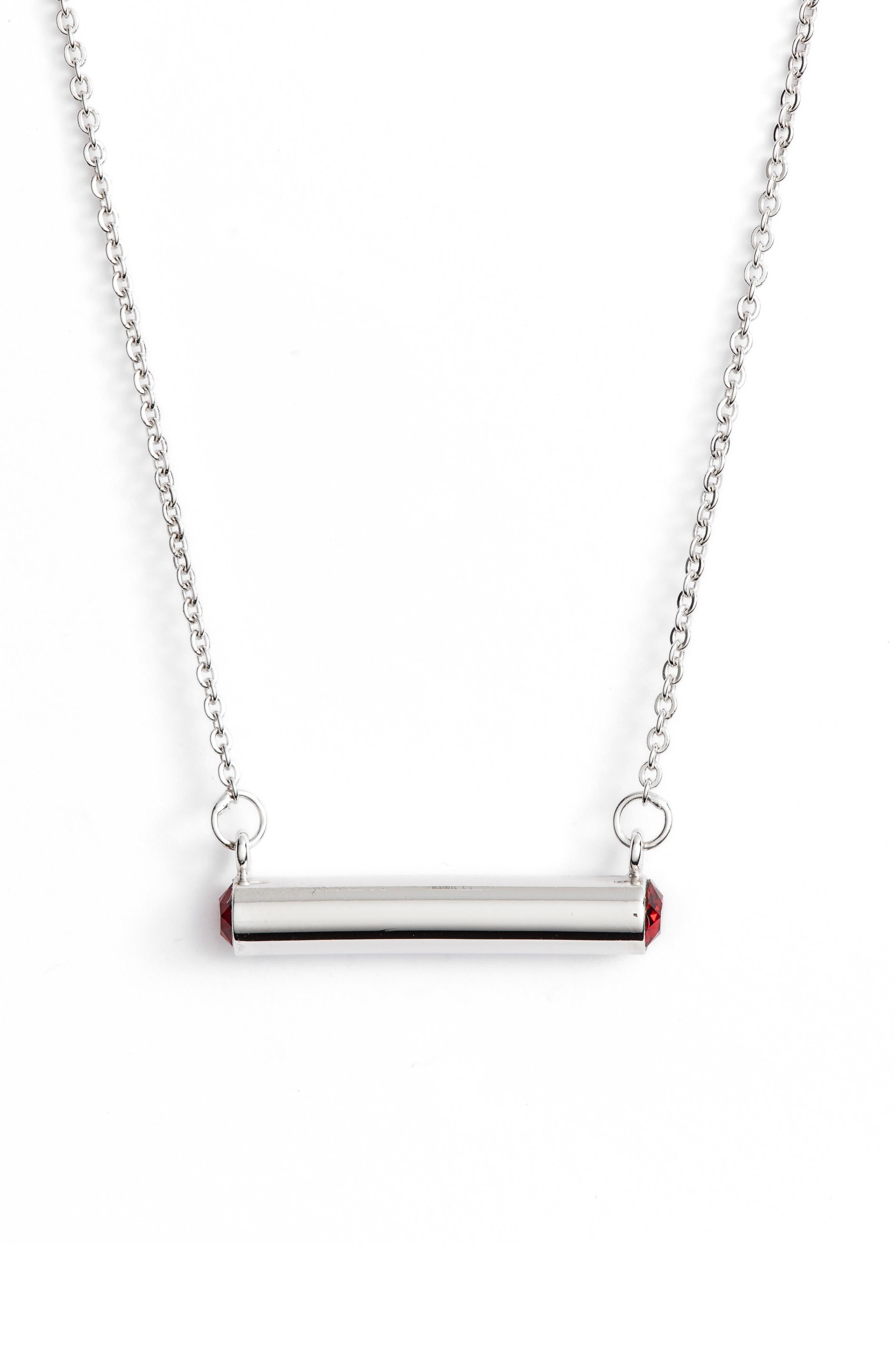 Main Image - Stella Vale January Crystal Bar Pendant Necklace