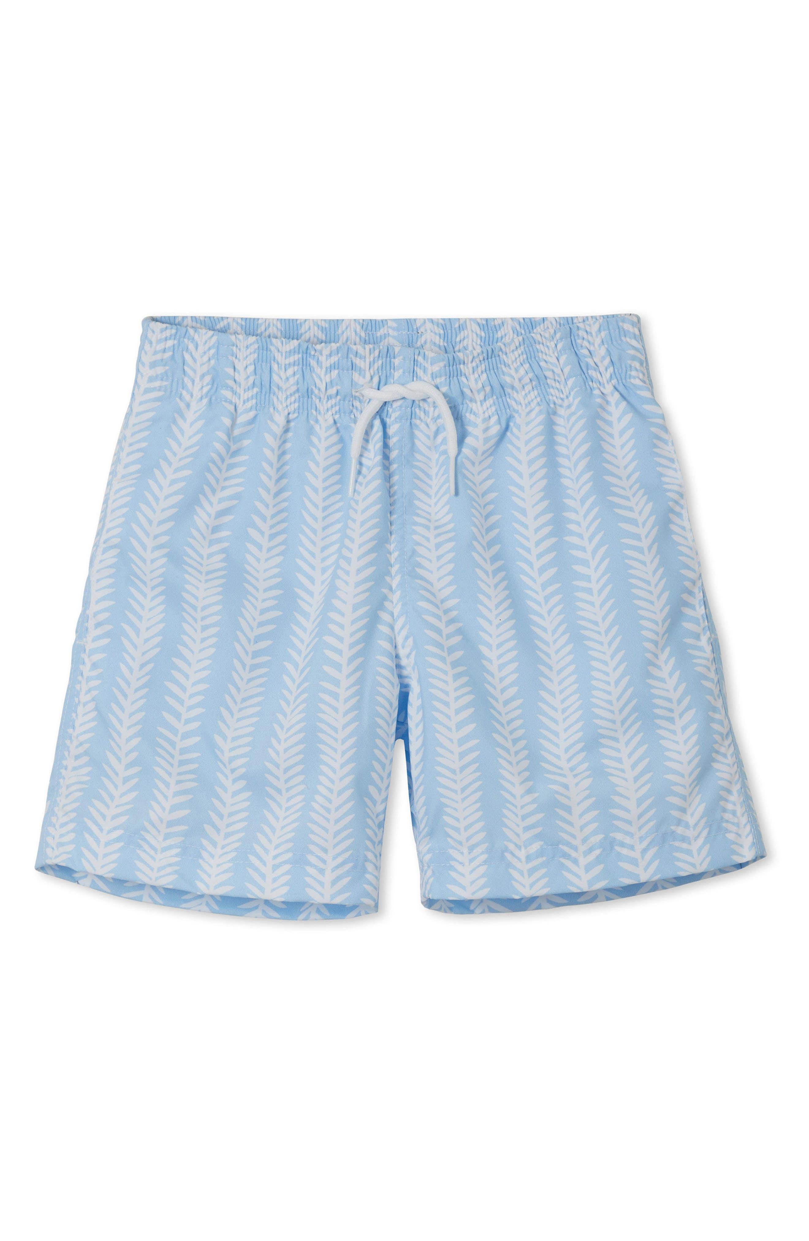 Coral Laurel Swim Trunks,                         Main,                         color, Blue