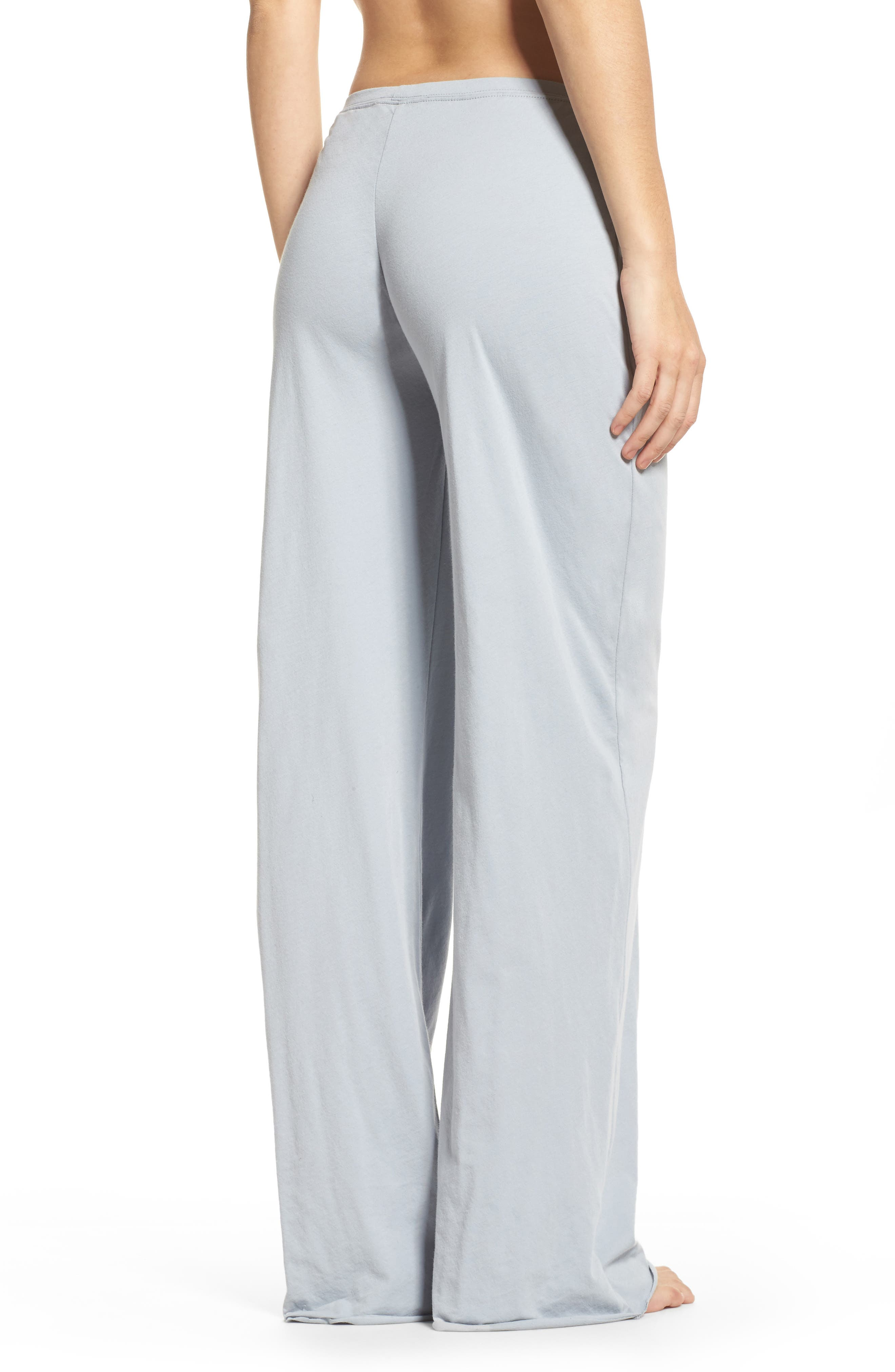 Alternate Image 2  - skin Pima Cotton Lounge Pants