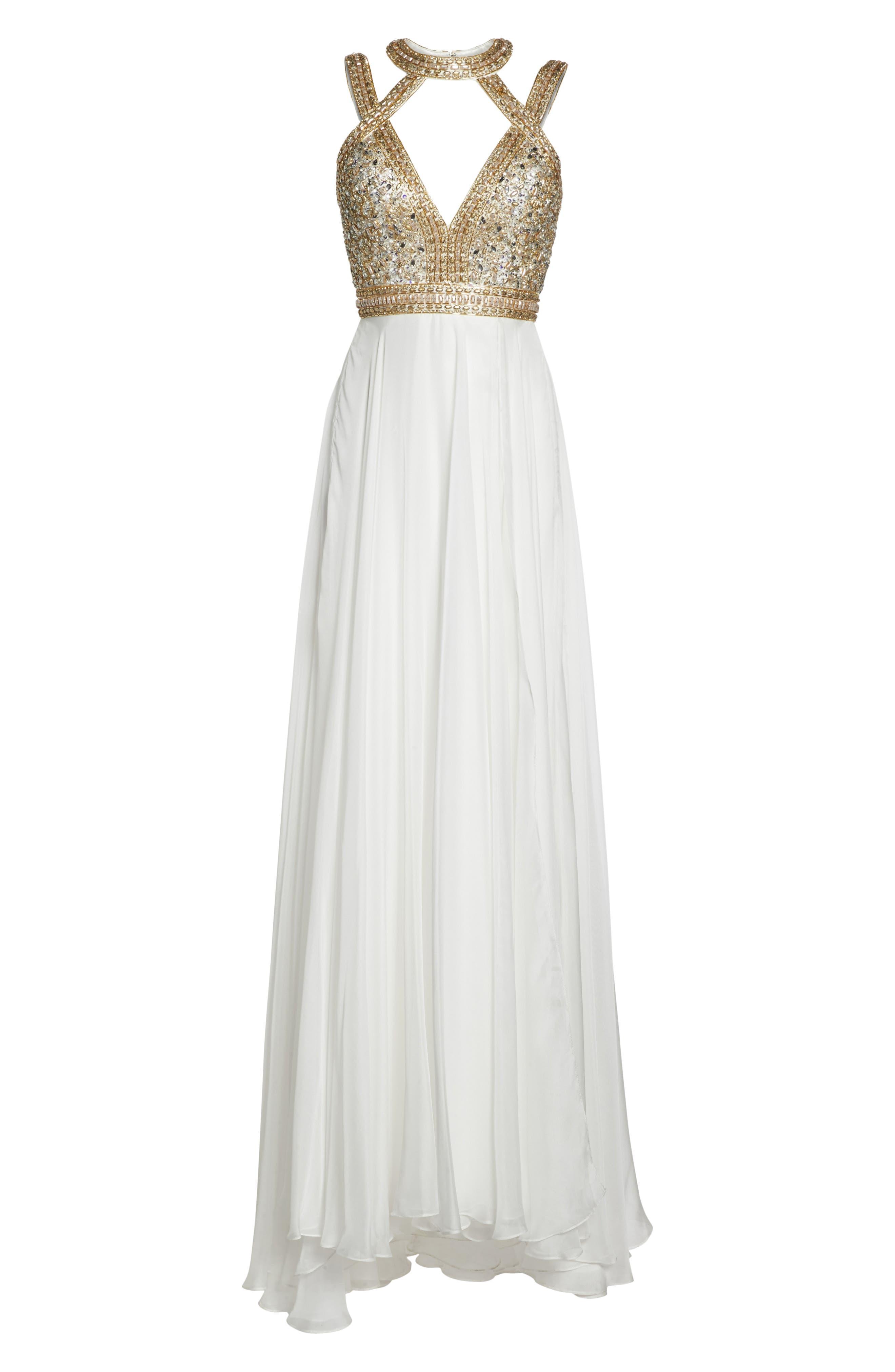 Alternate Image 6  - Mac Duggal Beaded Cutout Bodice Gown