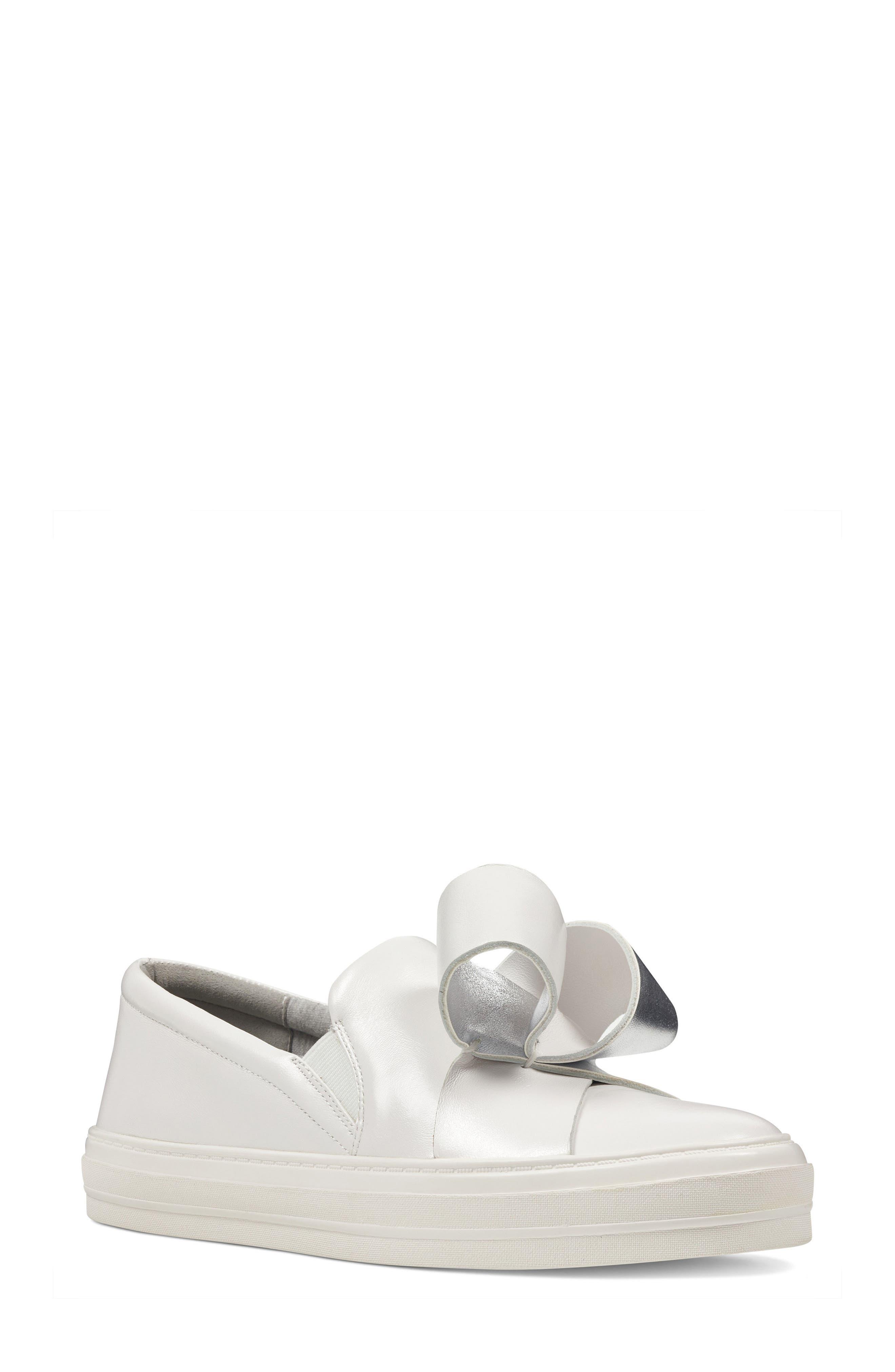 Odienella Slip-On Sneaker,                             Main thumbnail 1, color,                             White Multi Leather