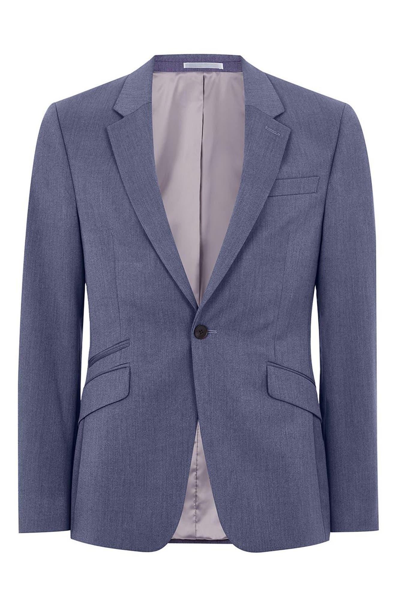 Muscle Fit Suit Jacket,                             Alternate thumbnail 5, color,                             Mid Blue