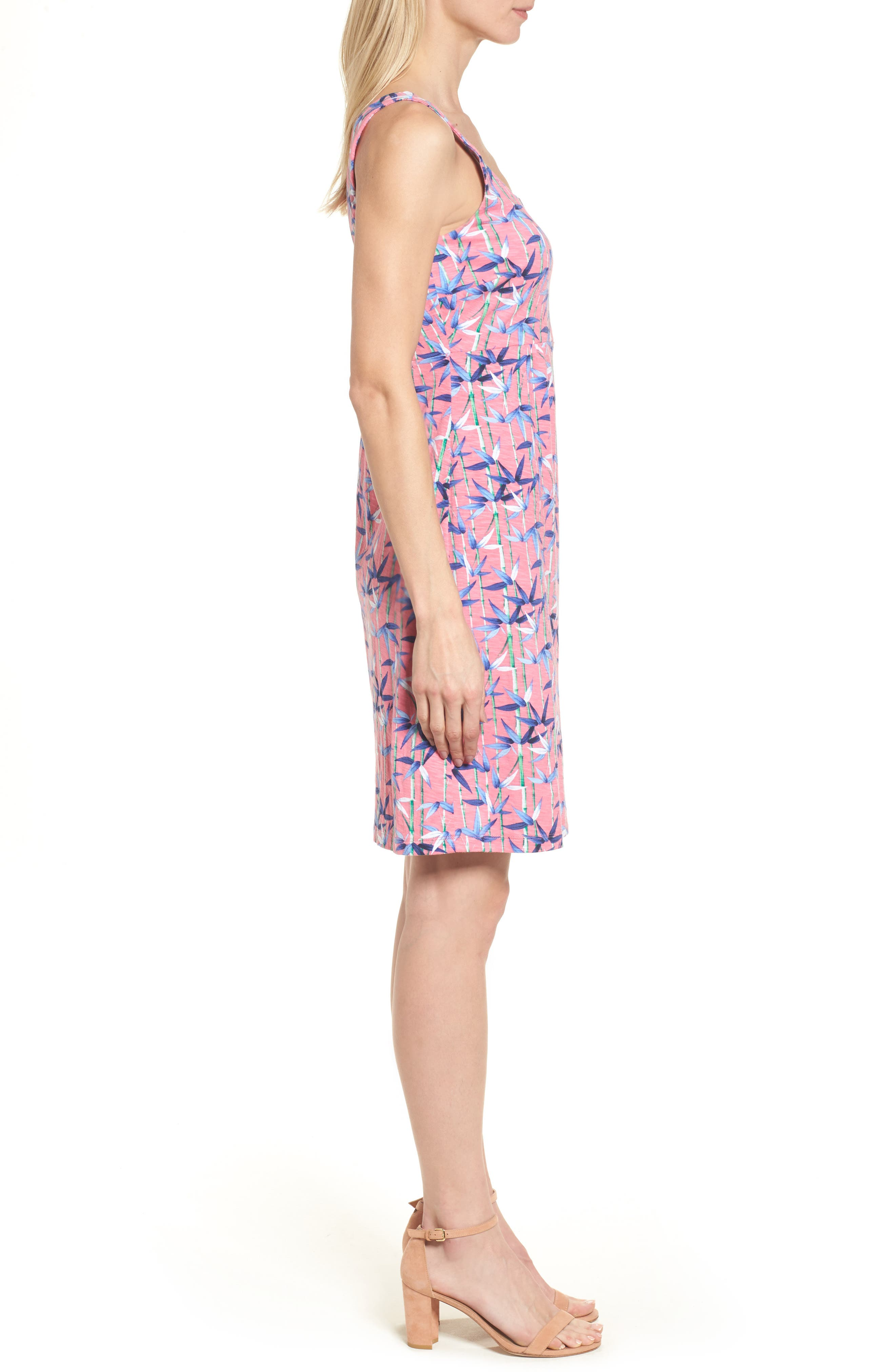 Bamboo Forest Sleeveless Dress,                             Alternate thumbnail 3, color,                             Soft Flamingo